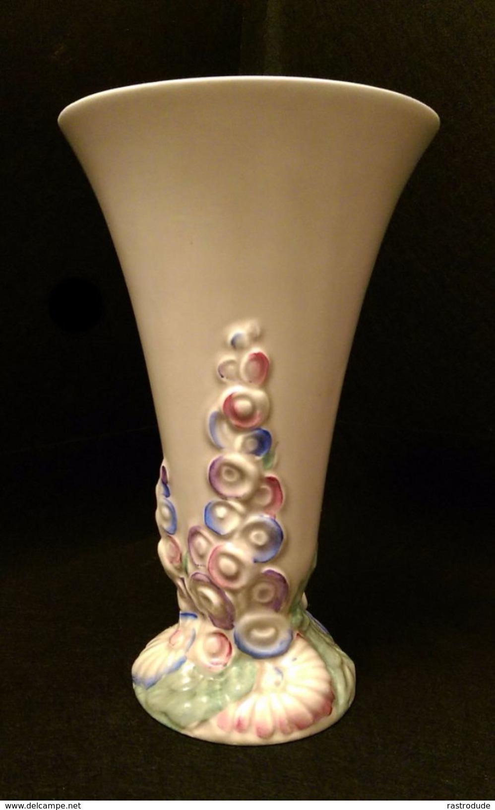 """1930 Clarice Cliff Trumpet Vase """" My Garden """" Foxgloves - Clarice Cliff"""