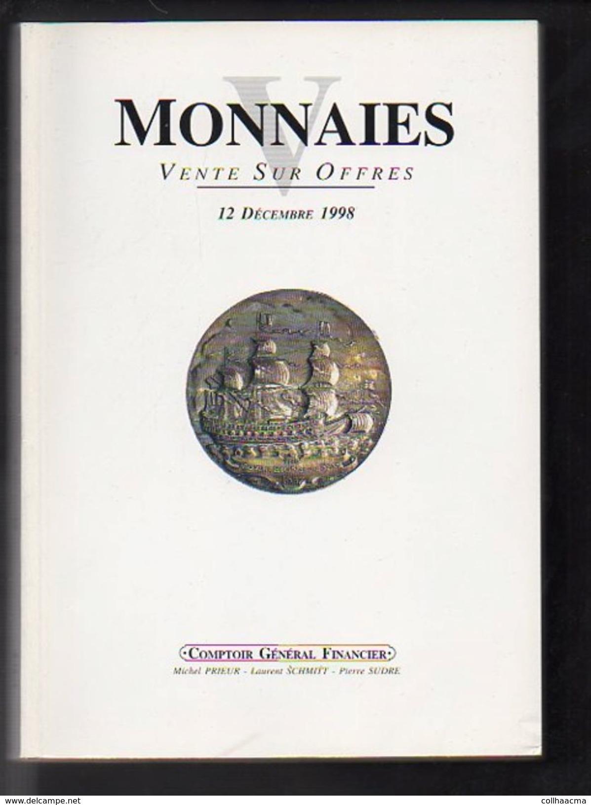 Numismatique 1998 Vente Sur Offres Monnaies N° 5 V / Comptoir Général Financier C.G.F. Voir Table Des Matières - French