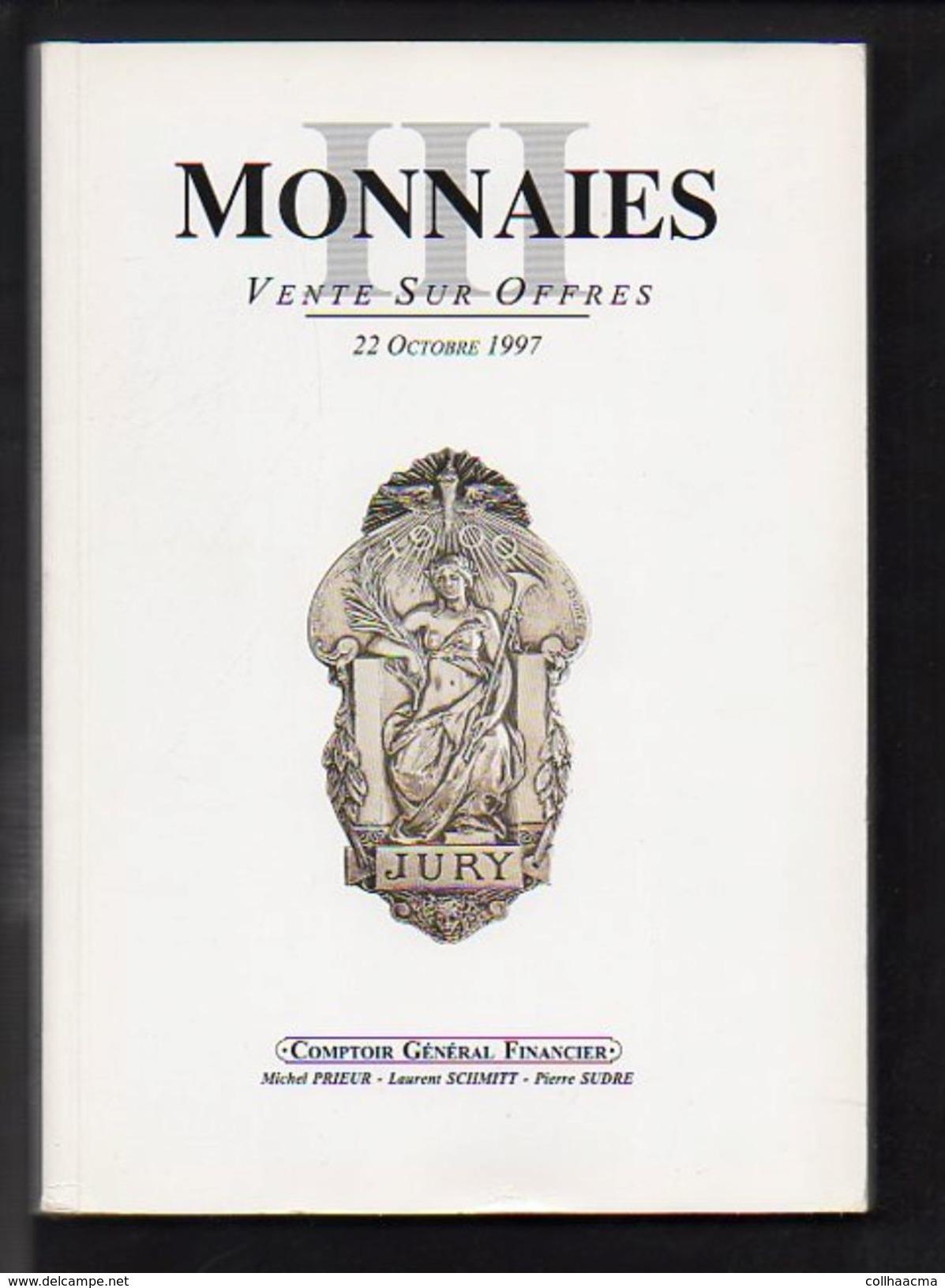 Numismatique 1997 Vente Sur Offres Monnaies N° 3 III  / Comptoir Général Financier C.G.F. Voir Table Des Matières - French