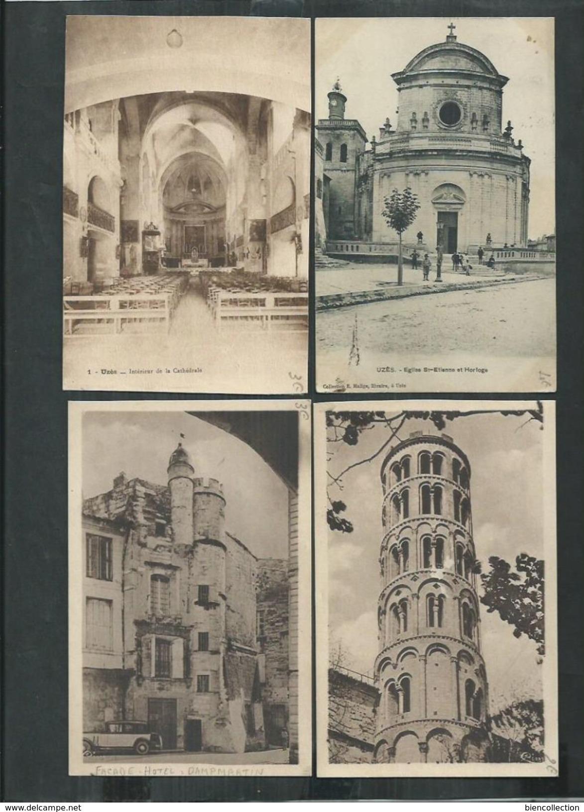 Gard. 100 CPA D'Uzès - Cartes Postales
