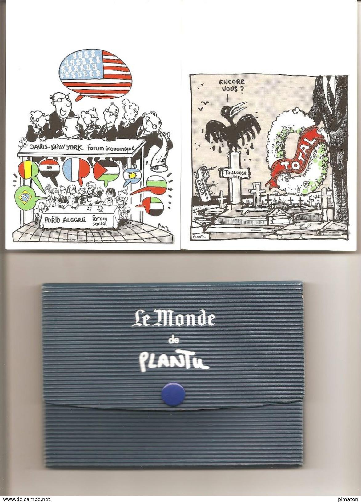 Carnet De 11 CPA  : LE MONDE DE PLANTU  ( Format 10,5 X 15 ) - Plantu