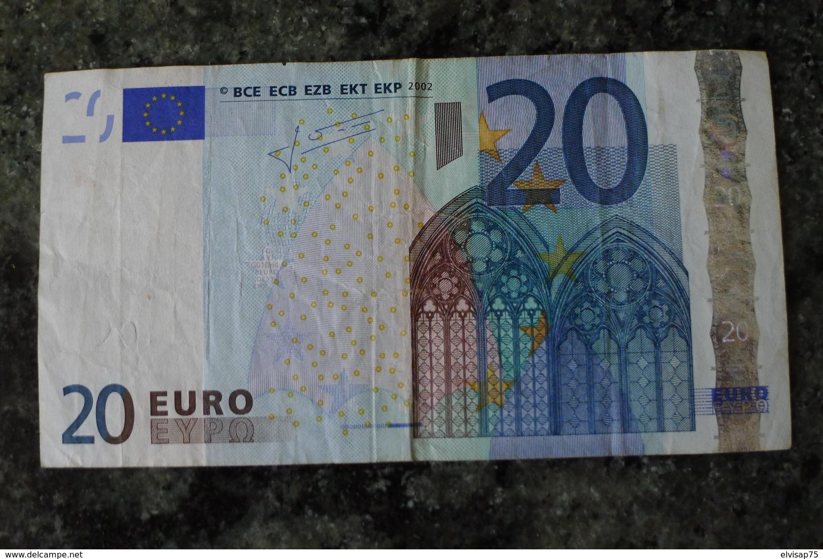 RRR VERY RARE 20 EURO G CYPRUS TRICHET G010H4 - EURO