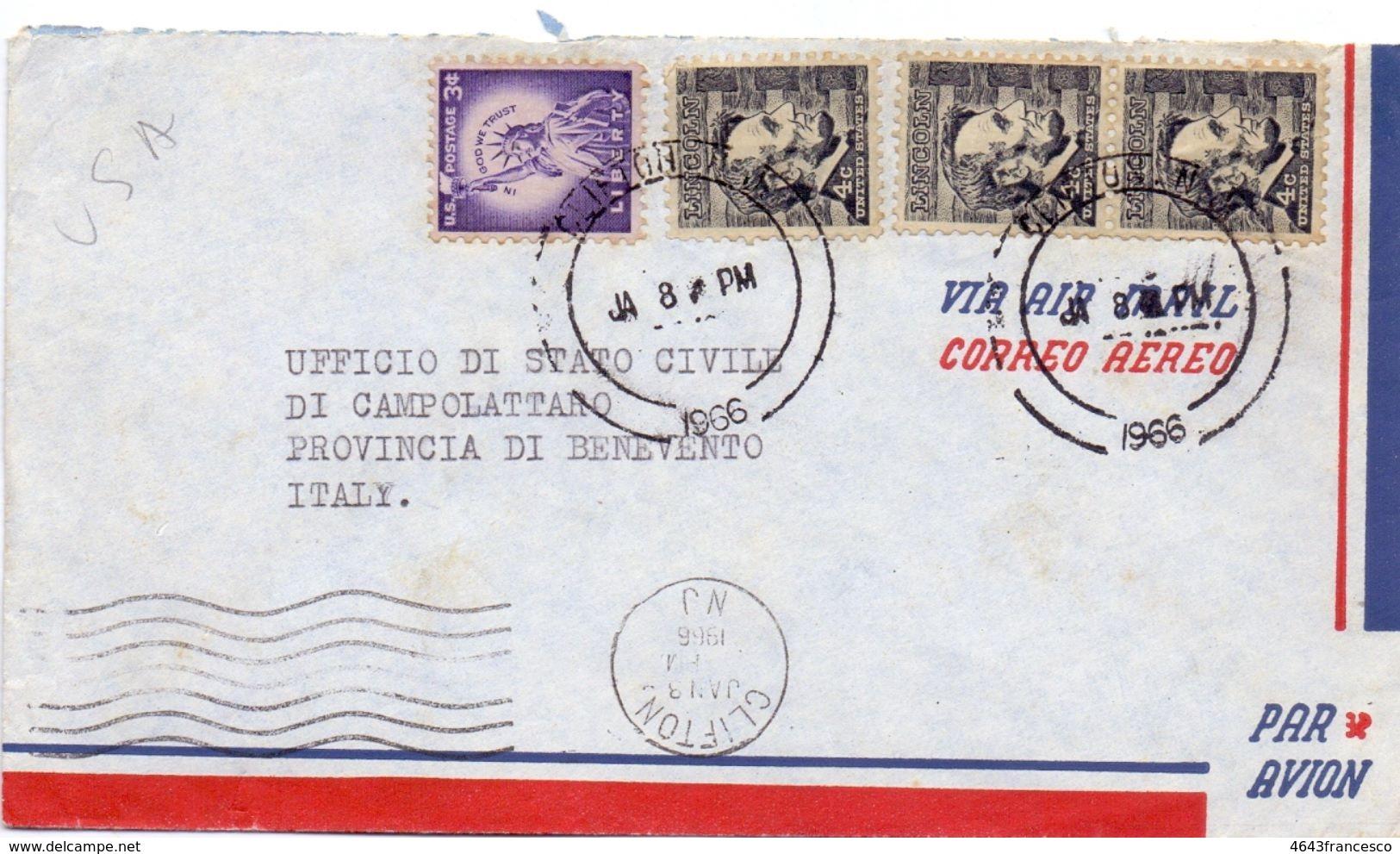 1972 Aereogramma Da USA Per Termini Imerese 02  017 - Central America