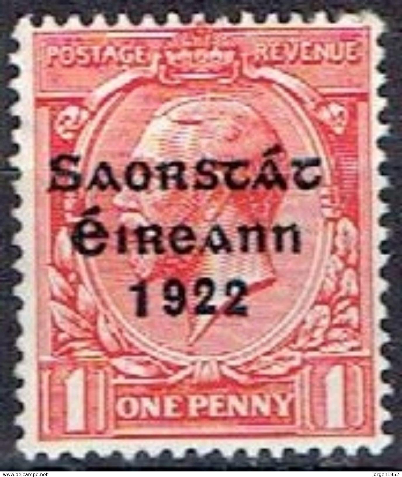 IRELAND  # FROM 1922  STAMPWORLD 30* - Nuovi