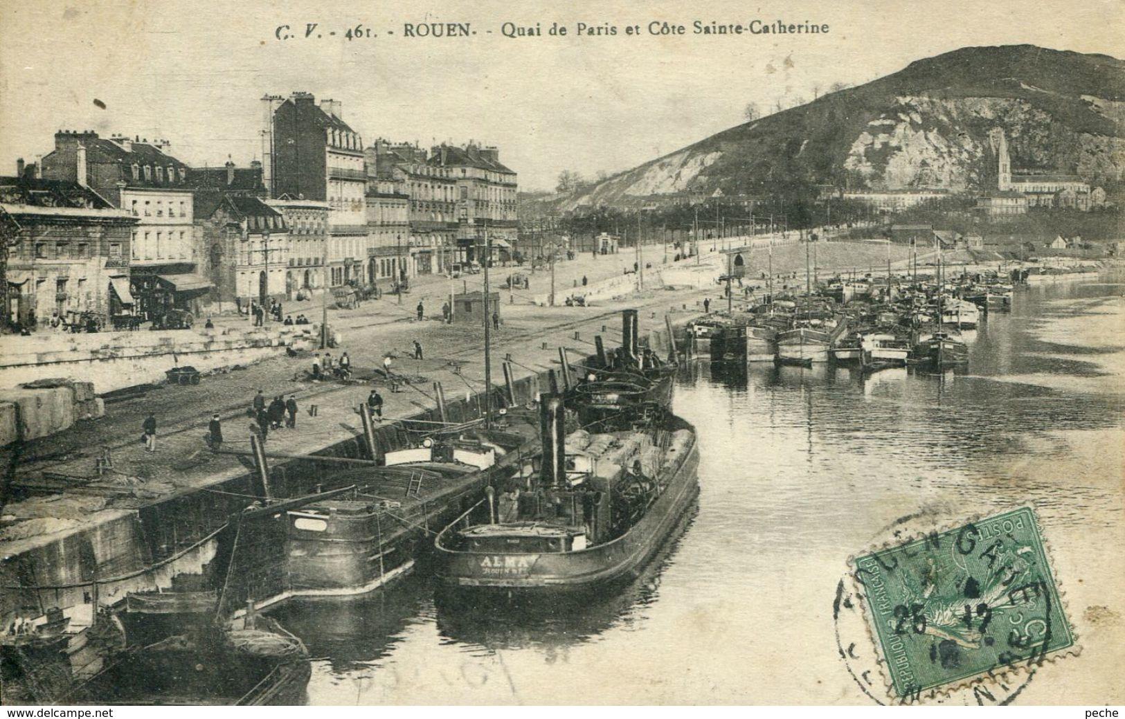 N°55298 -cpa Rouen -le Remorqueur Alma- - Remorqueurs