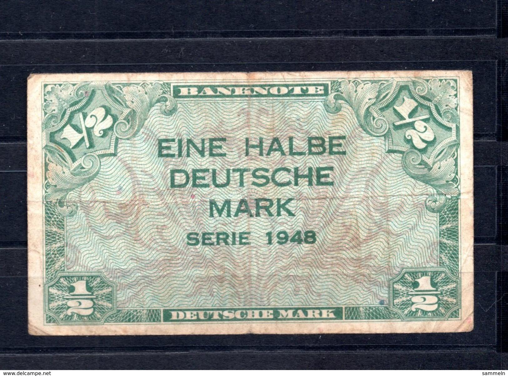 9249 Deutschland, Germany, Alliierte Besetzung, 1/2 Mark Gebraucht, Ro 230 - 1/2 Mark