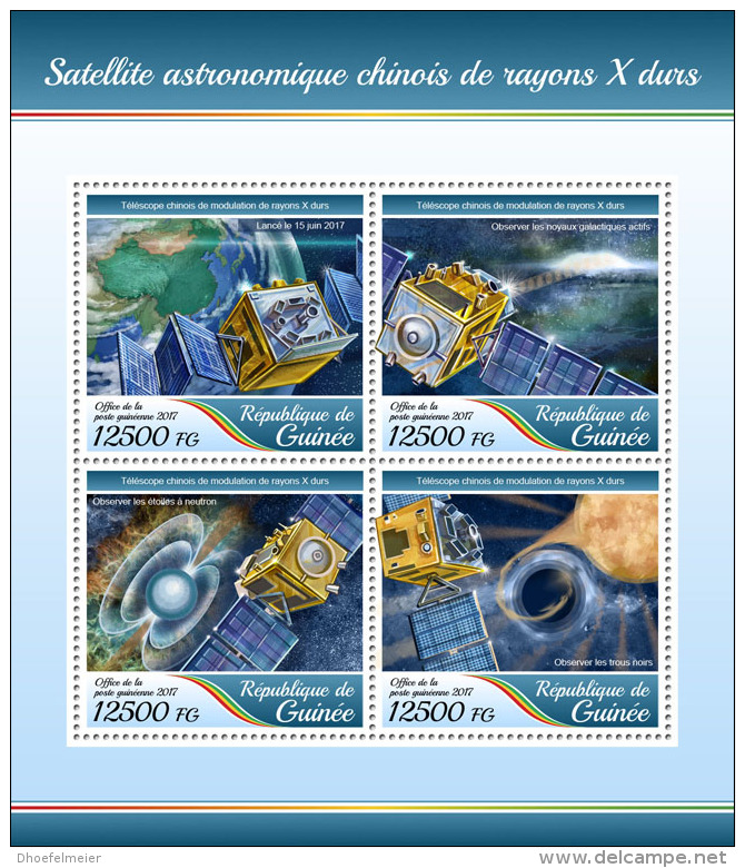 GUINEA REP. 2017 ** Chinas 1st X-Ray Astronomical Satellite M/S - OFFICIAL ISSUE - DH1736 - Africa