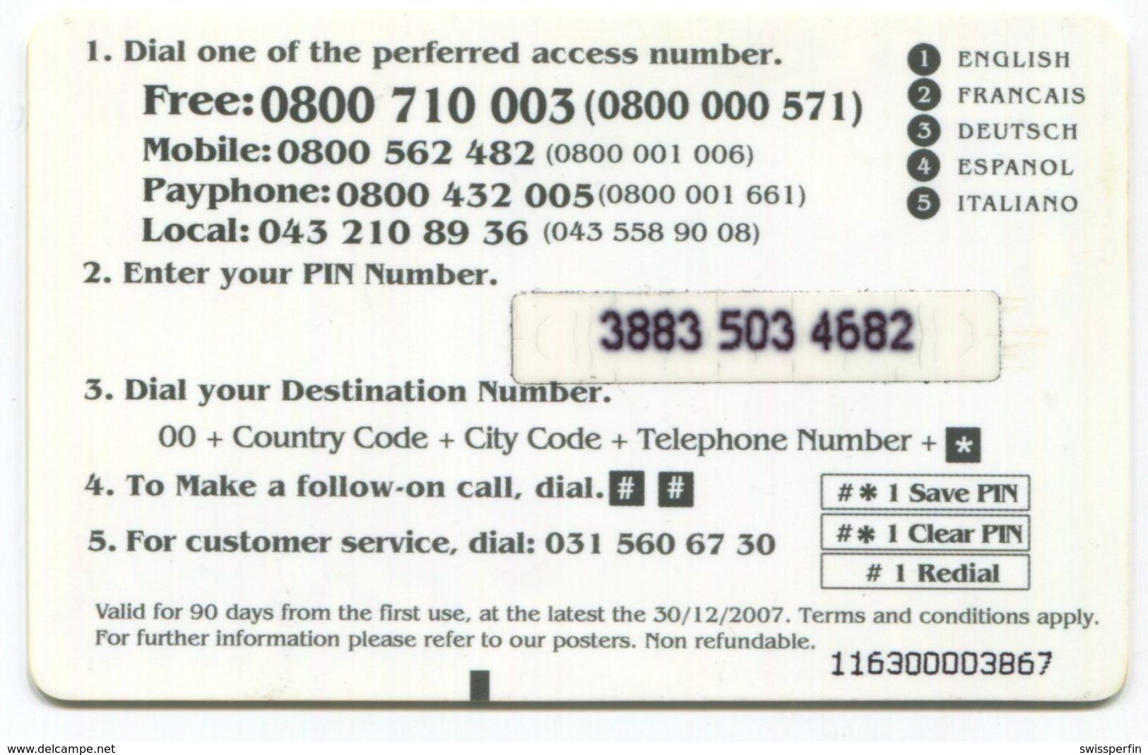 1662 - SUPER LATINO 10 CHF Prepaid Telefonkarte - Schweiz