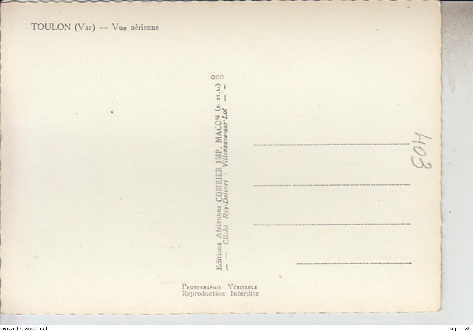 N°403 VAR TOULON. VUE AERIENNE SUR FORTIFICATION DES LICES DE L'HOPITAL Ste- ANNE ET DES CASERNES. - Toulon