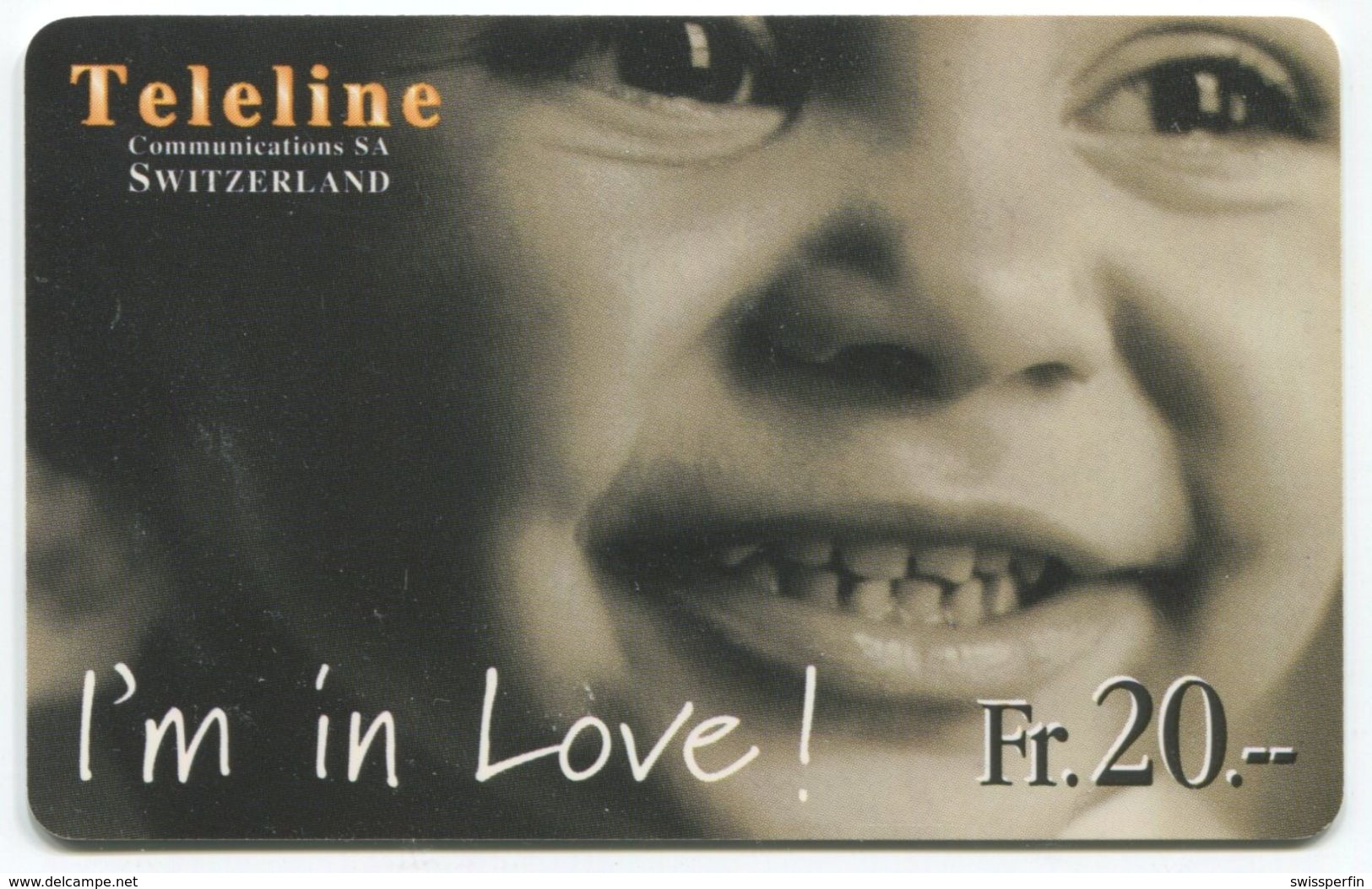 1665 - Teleline Fr. 20.-  I'm In Love ! - Suisse