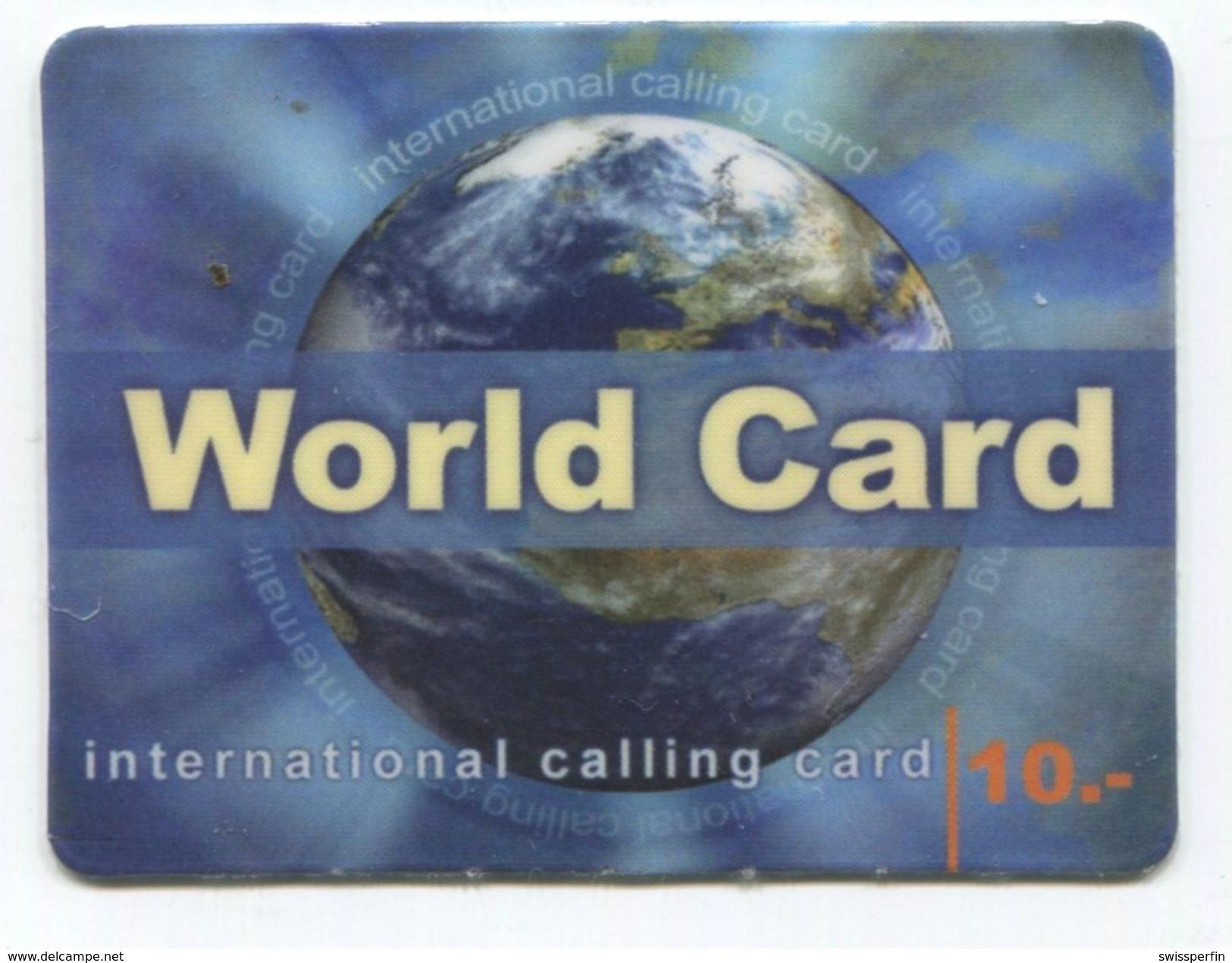 1667 - World Card 10 CHF Mini Telefonkarte - Schweiz