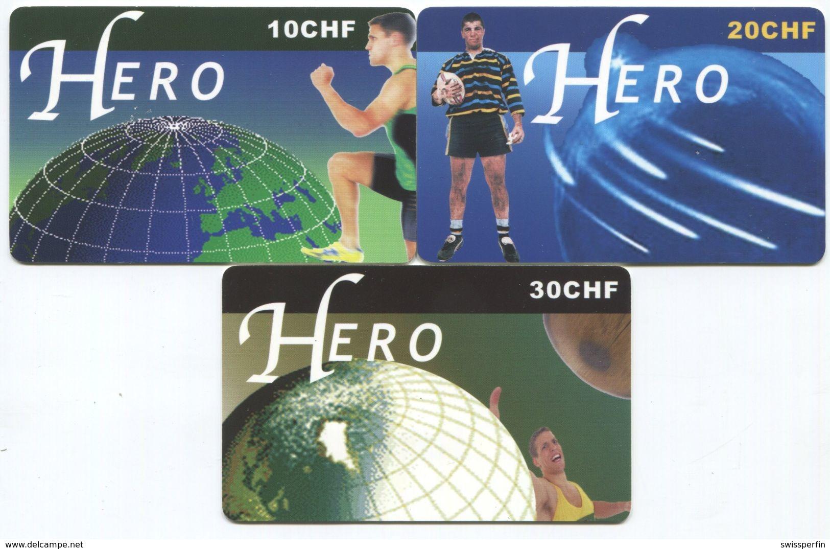 1671 - HERO 10 Bis 30 CHF Prepaid Telefonkarten Serie - Suisse