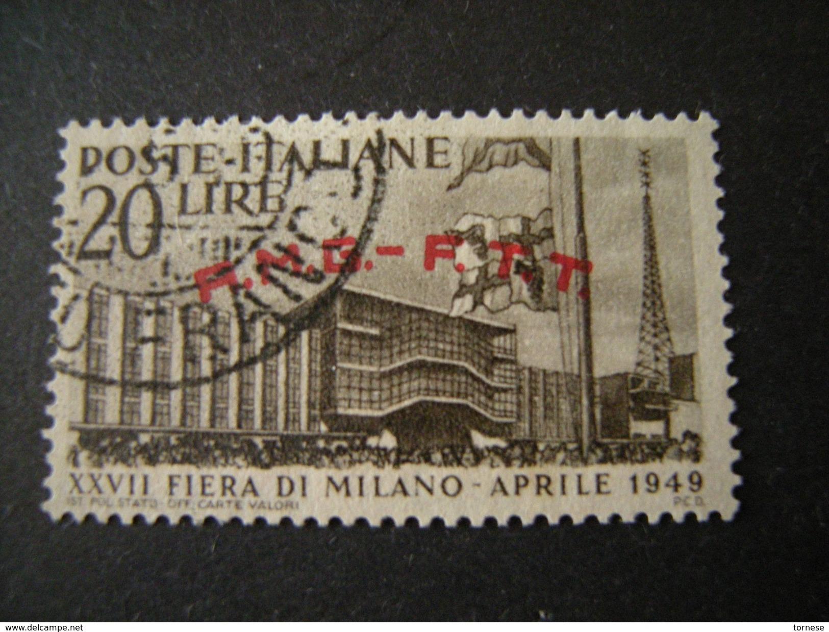 TRIESTE - AMGFTT. 1949, FIERA DI MILANO, L. 20 Bruno Scuro, Usato, TTB - 7. Triest