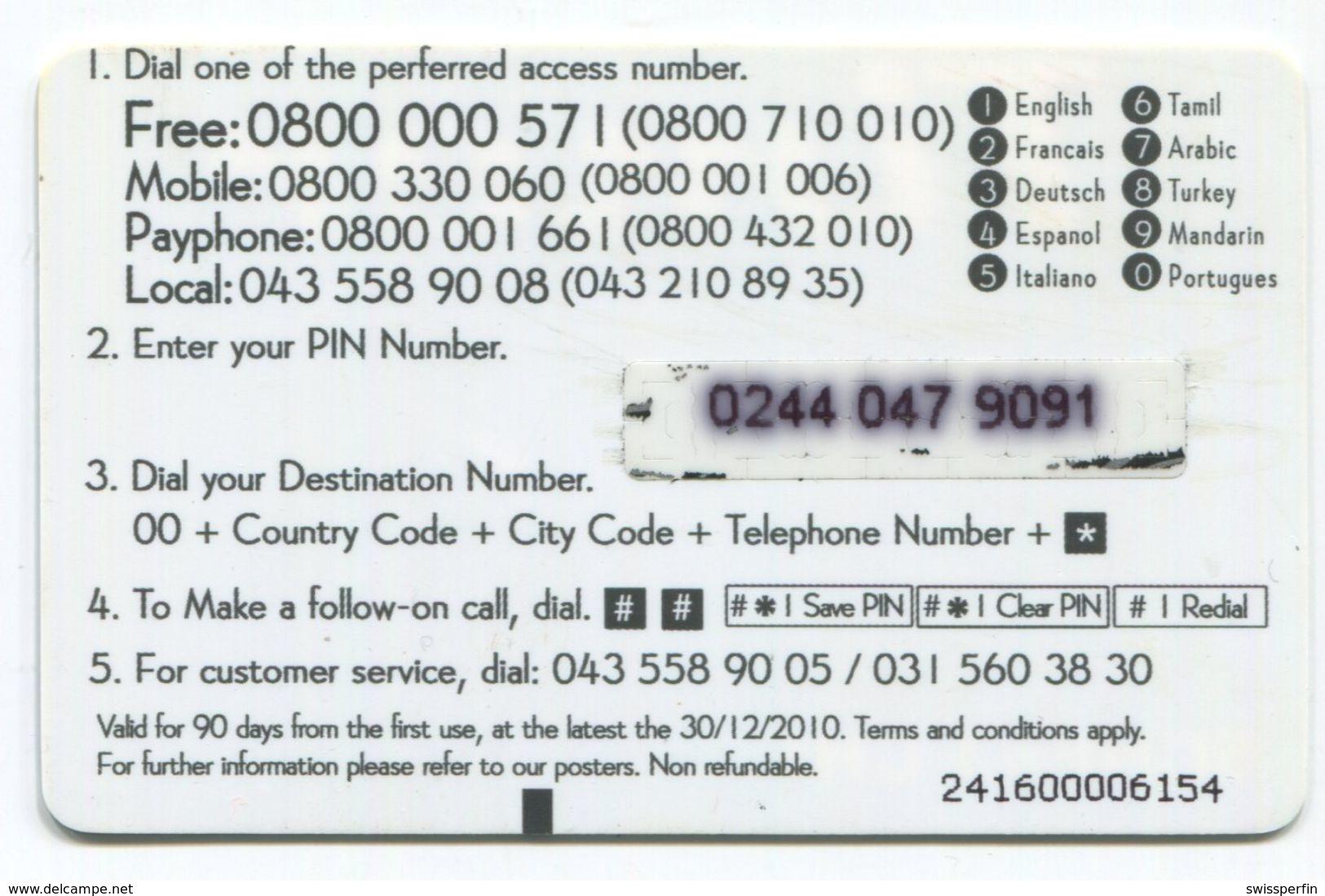 1677 - Timer 5+3 CHF Prepaid Telefonkarte - Suisse