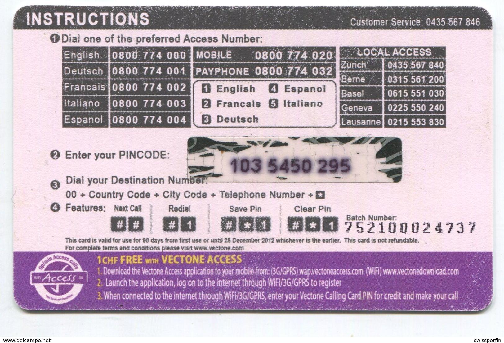 1680 - Mini Talk 2+0.50 CHF Prepaid Telefonkarte - Schweiz