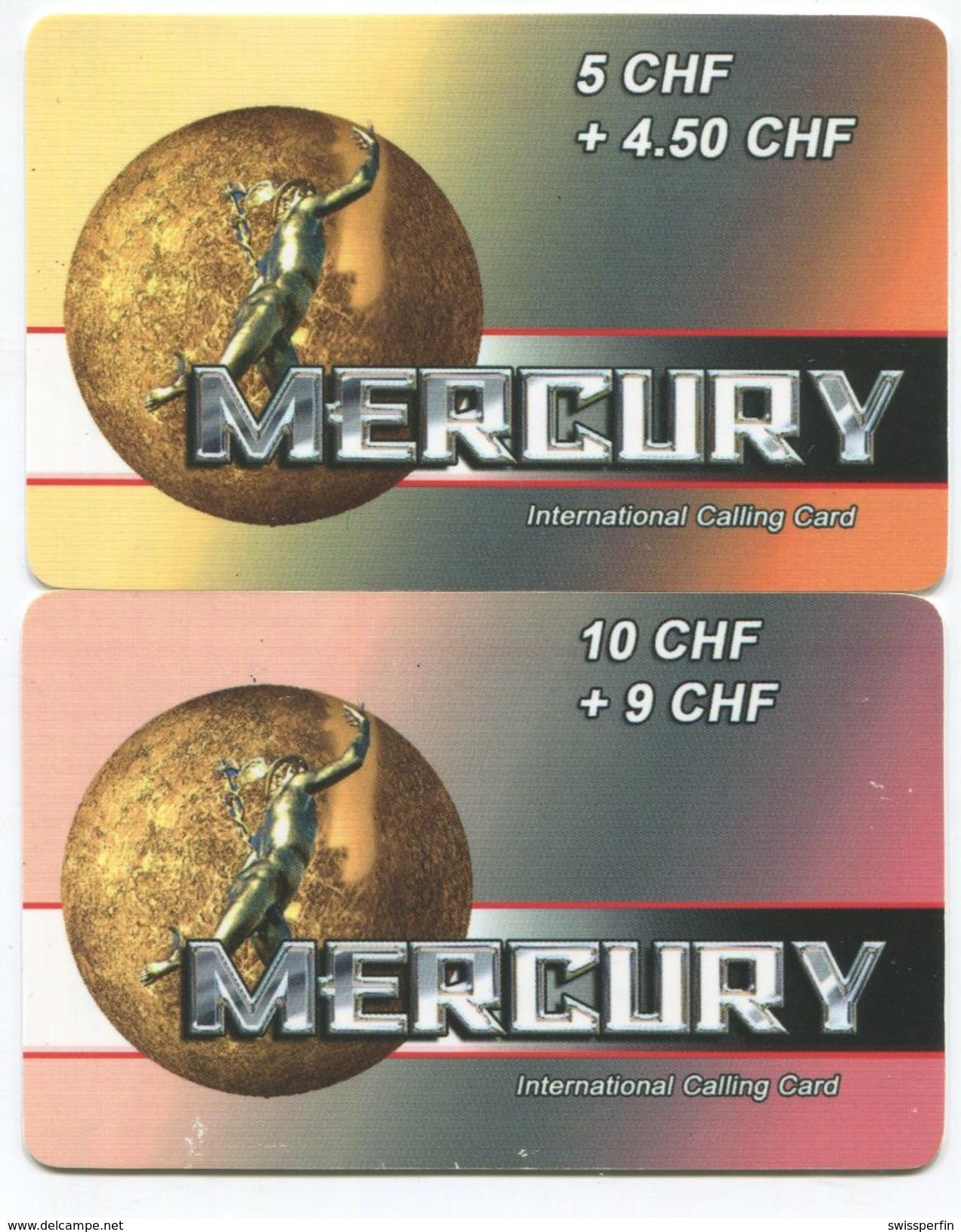 1683 - MERCURY 5 Und 10 CHF Prepaid Telefonkarten - Suisse