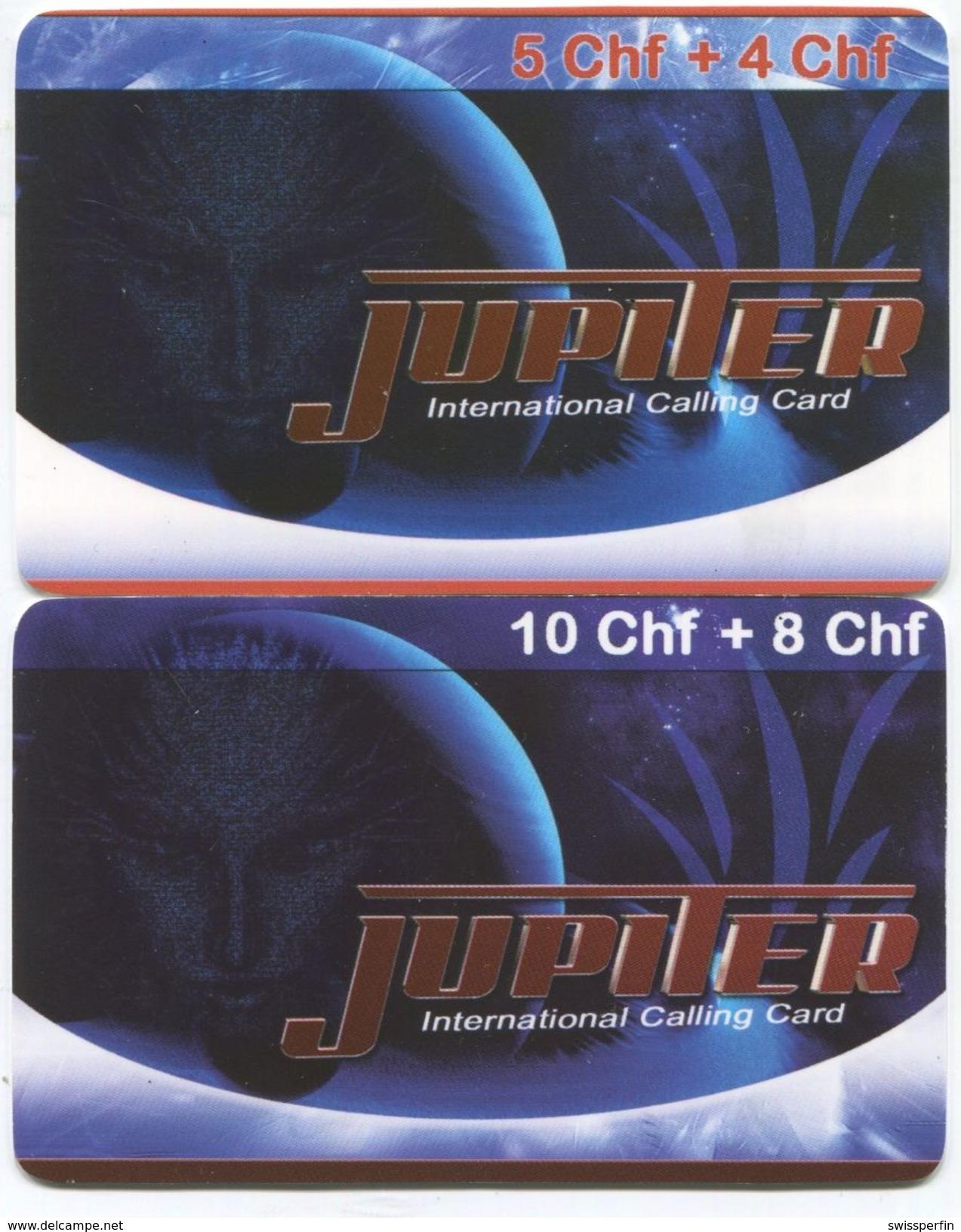 1691 - JUPITER 5 Und 10 CHF Prepaid Telefonkarten - Suisse