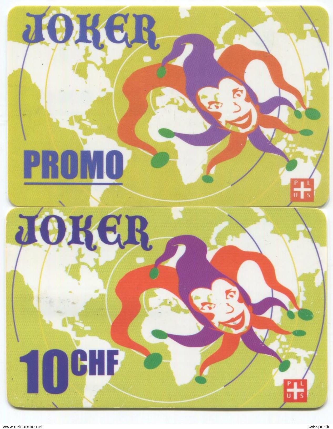 1692 - JOKER Promo Und 10 CHF Prepaid Telefonkarten - Suisse