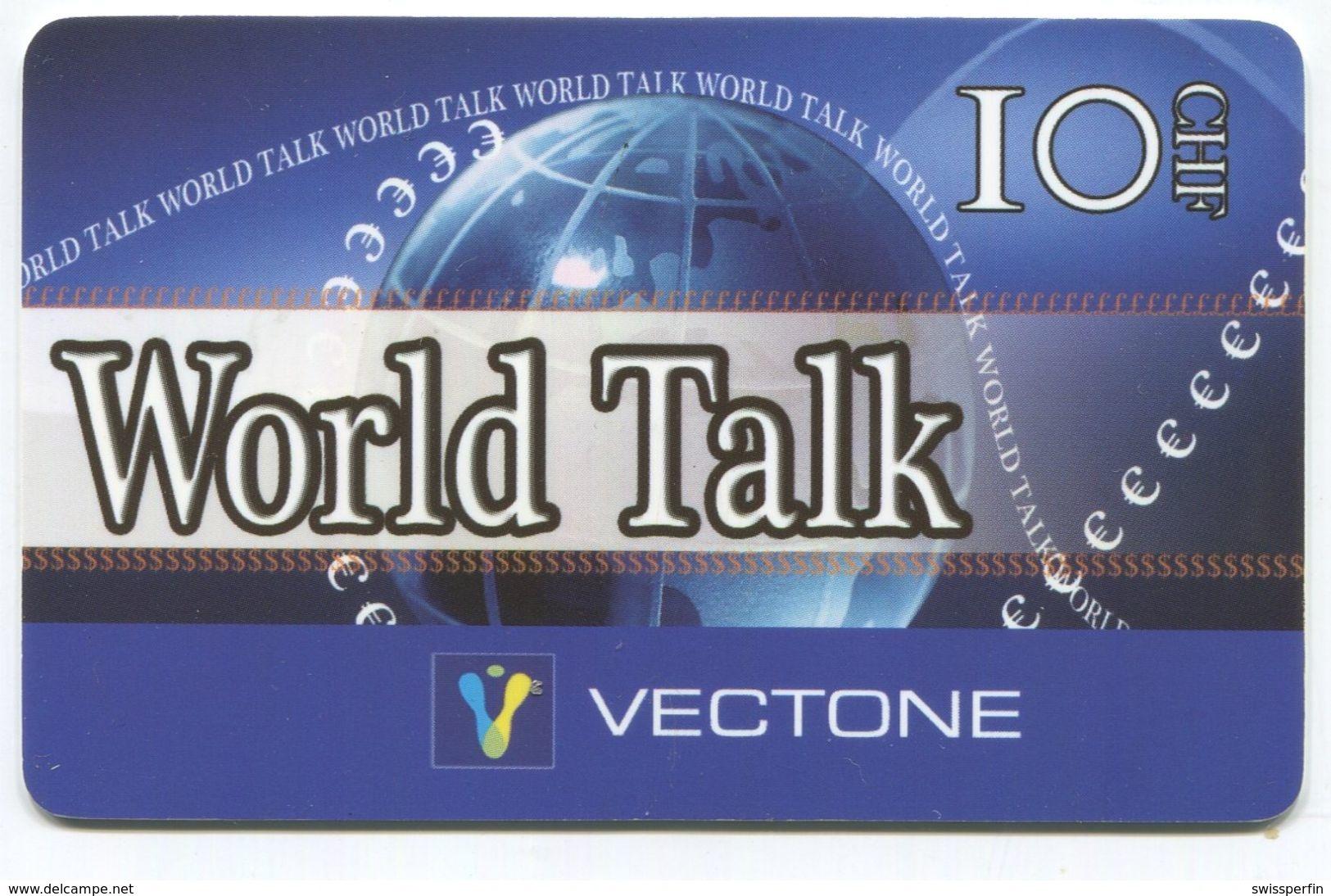 1693 - World Talk 10 CHF Prepaid Telefonkarte - Suisse