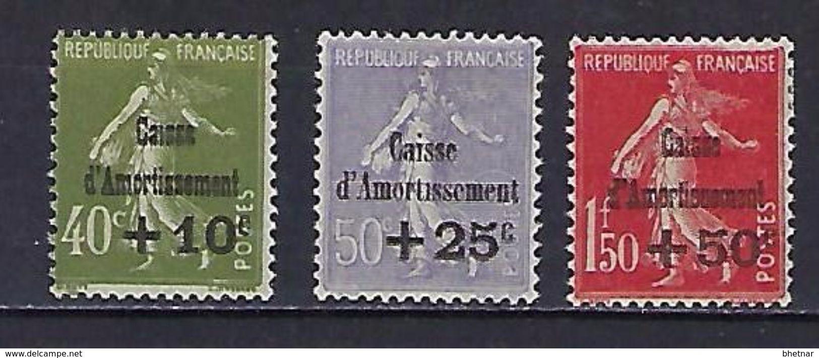 "FR YT 275 à 277 "" Série Caisse Amortissemment "" 1931 Neuf* - Sinking Fund"