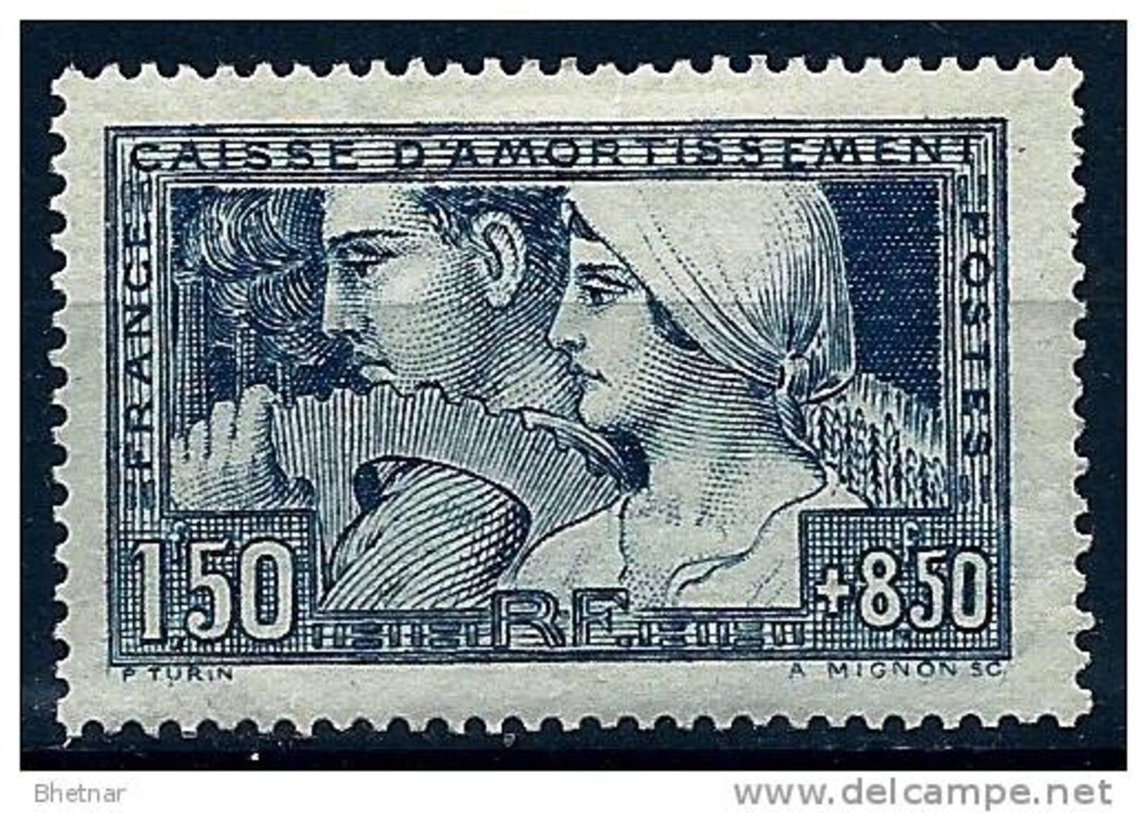 "FR YT 252  "" Caisse D´amortissement 1F50 + 8F50 Bleu "" 1928 Neuf* - Sinking Fund"