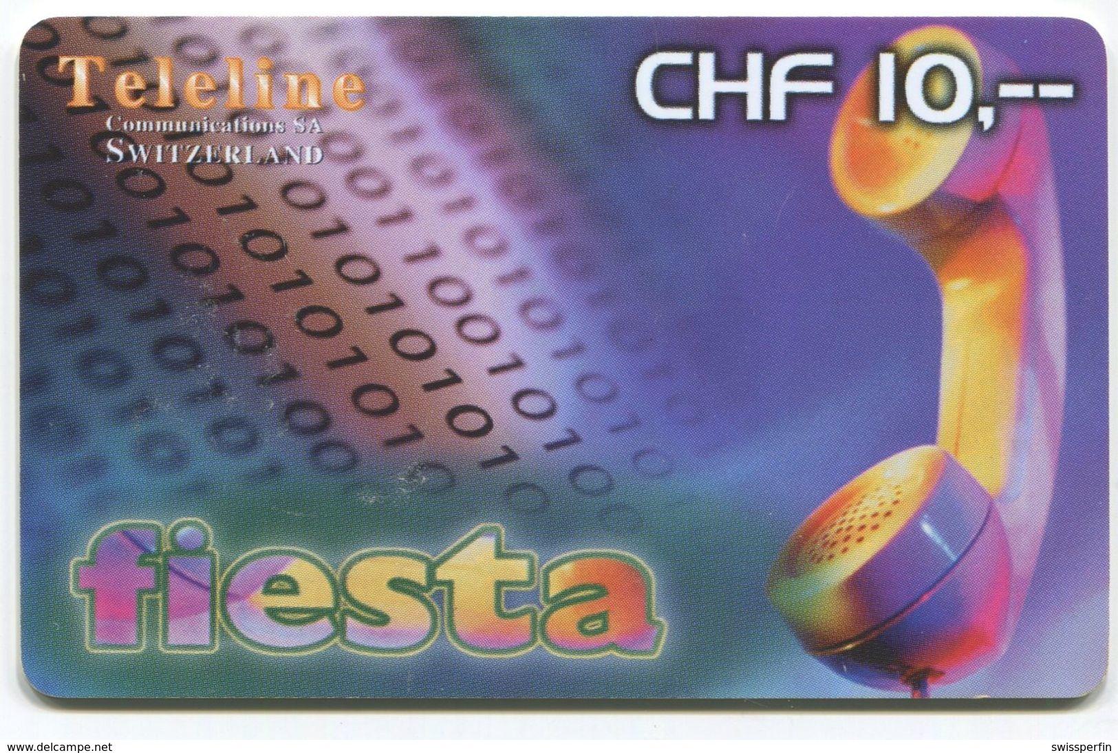 1696 - Teleline Fiesta CHF 10.- Prepaid Telefonkarte - Suisse