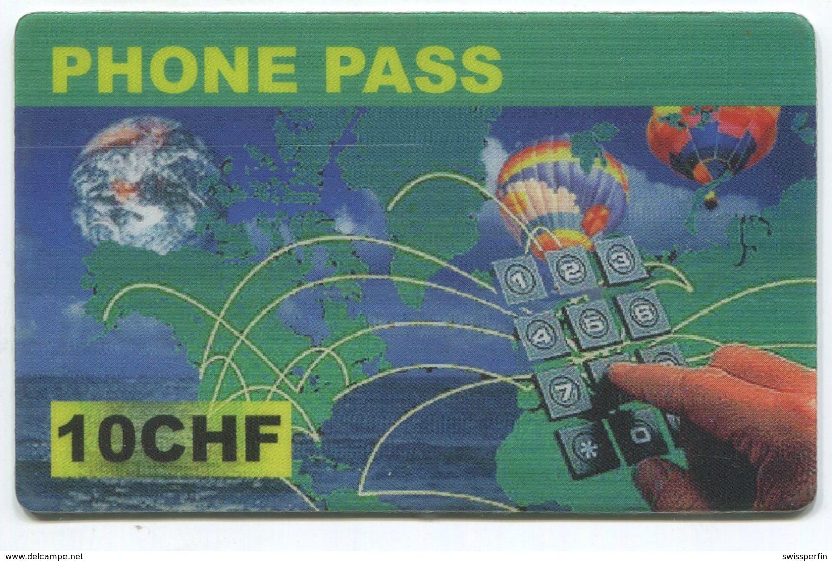 1699 - Phone Pass 10 CHF Prepaid Telefonkarte - Schweiz