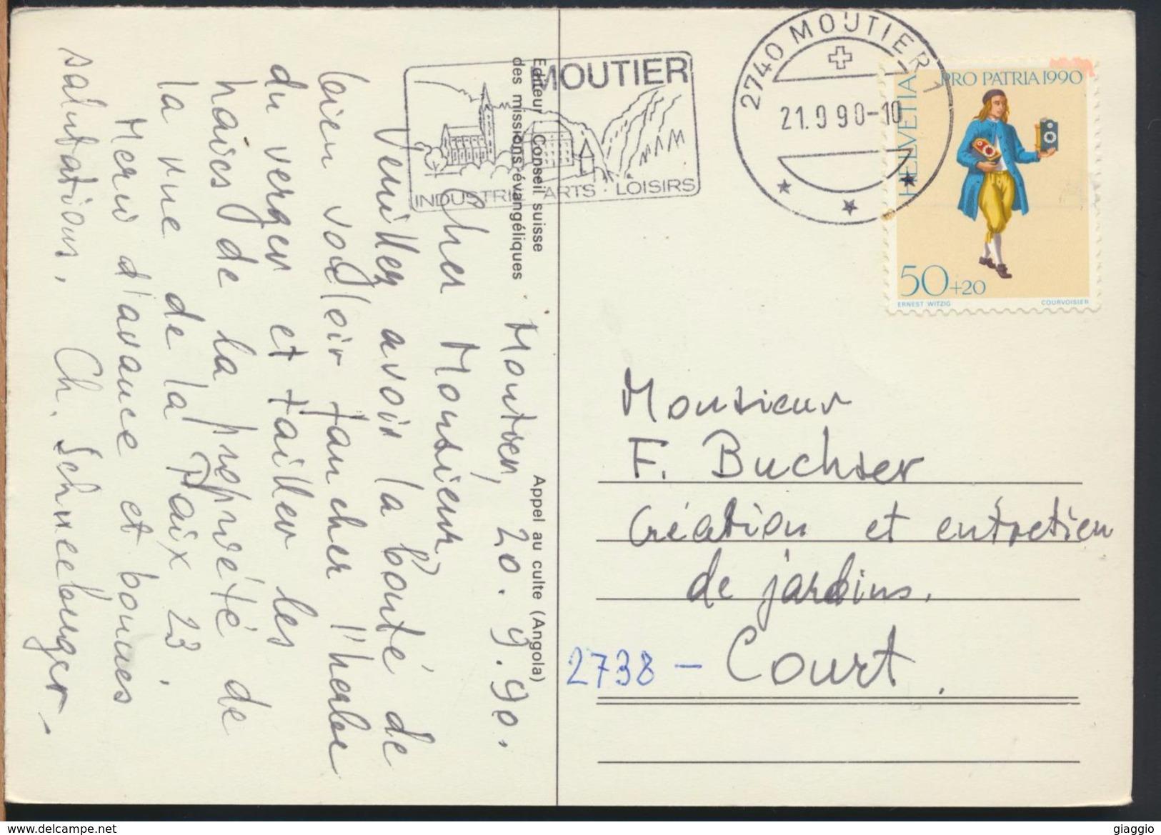 °°° 6798 - ANGOLA - APPEL AU CULTE - 1990 With Stamps Svizzera °°° - Angola