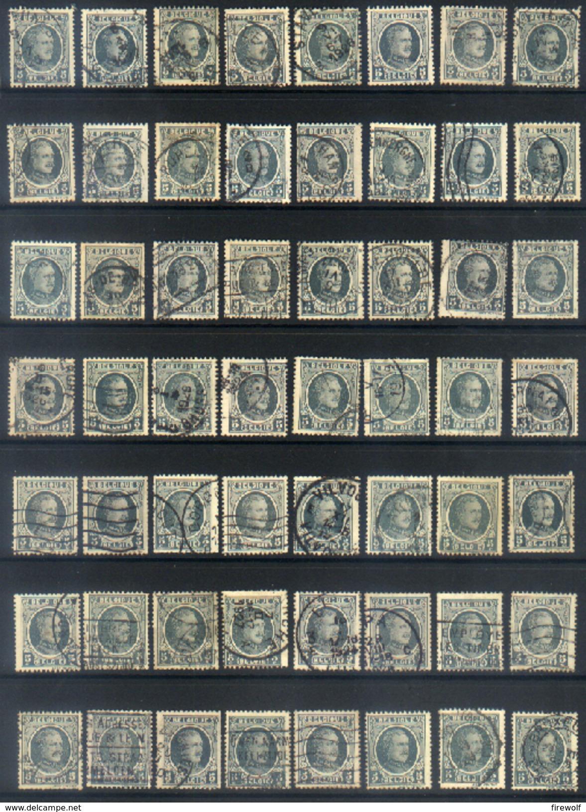Y12 - Belgium - 1922 - OBP 193 - Used Lot - 1922-1927 Houyoux