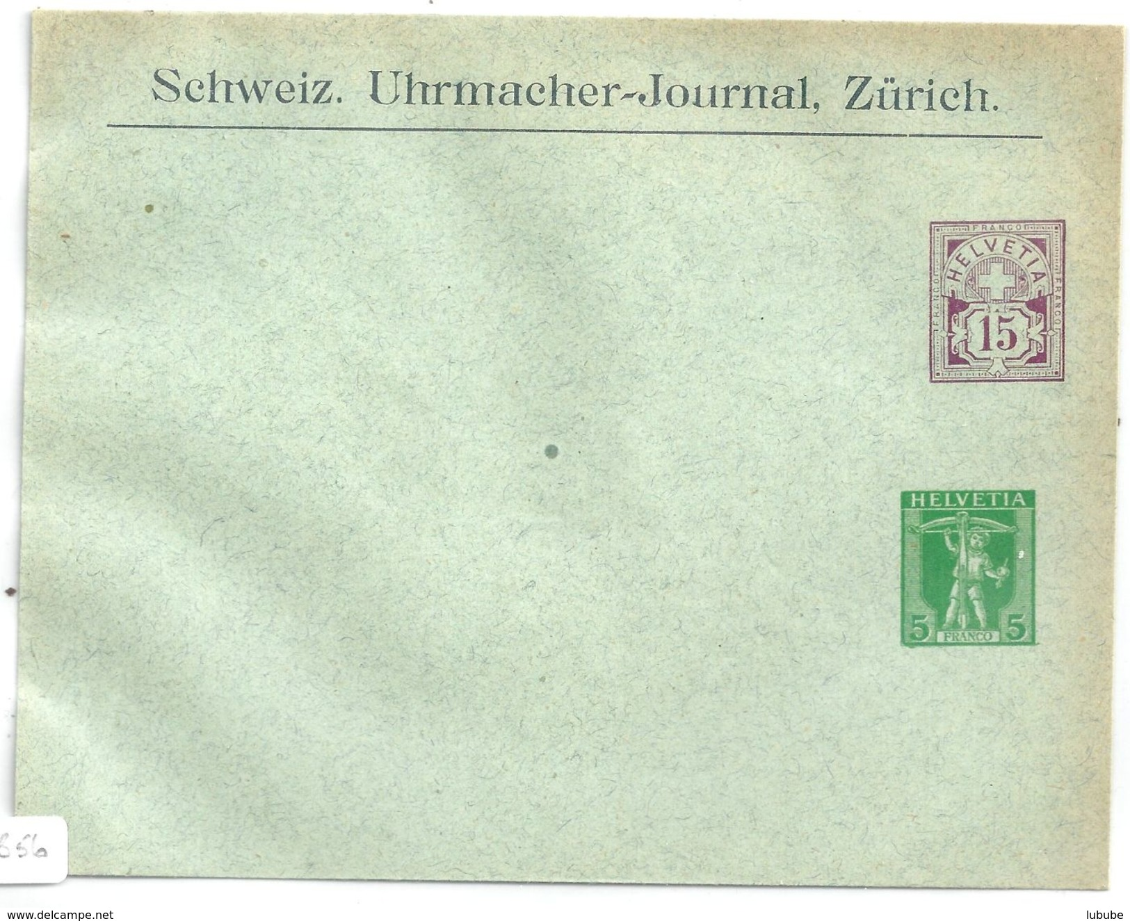 """PrU-210  """"Schweiz. Uhrmacher-Journal, Zürich""""              1907 - Enteros Postales"""