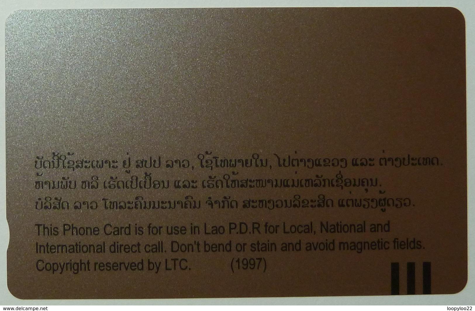 LAOS - Khone Pha Pheng Water Fall - 100 Units - 1997 - Mint - Laos