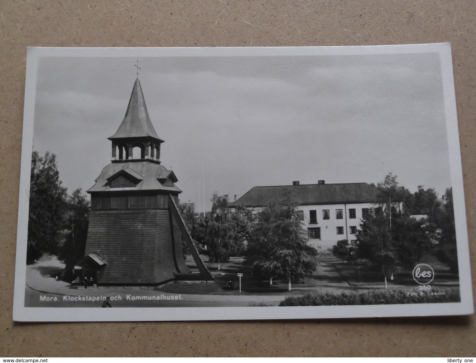 MORA - Klockstapeln Och Kommunalhuset ( Sörlin ) Anno 19?? ( Details : Zie Foto´s ) !! - Suède