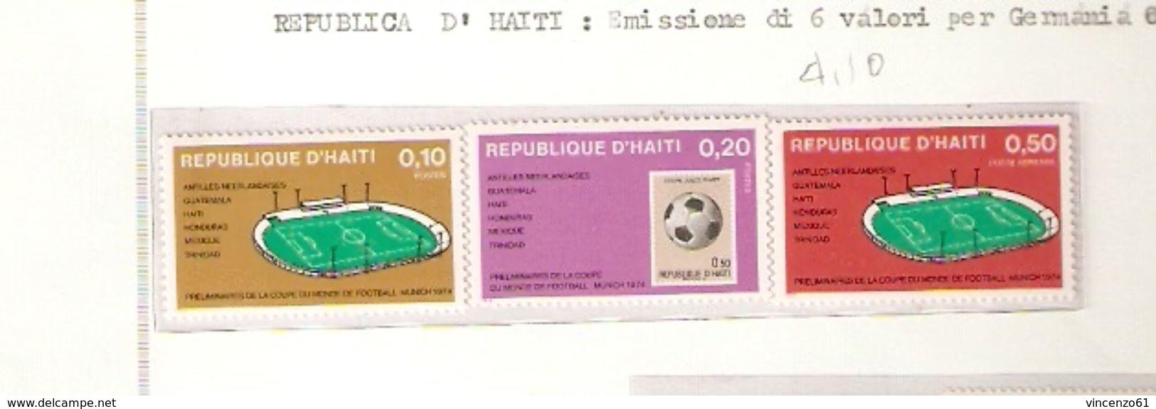REPUBLIQUE D´HAITI  FIFA WORLD CUP 1974 GERMANY 1974 - Coppa Del Mondo