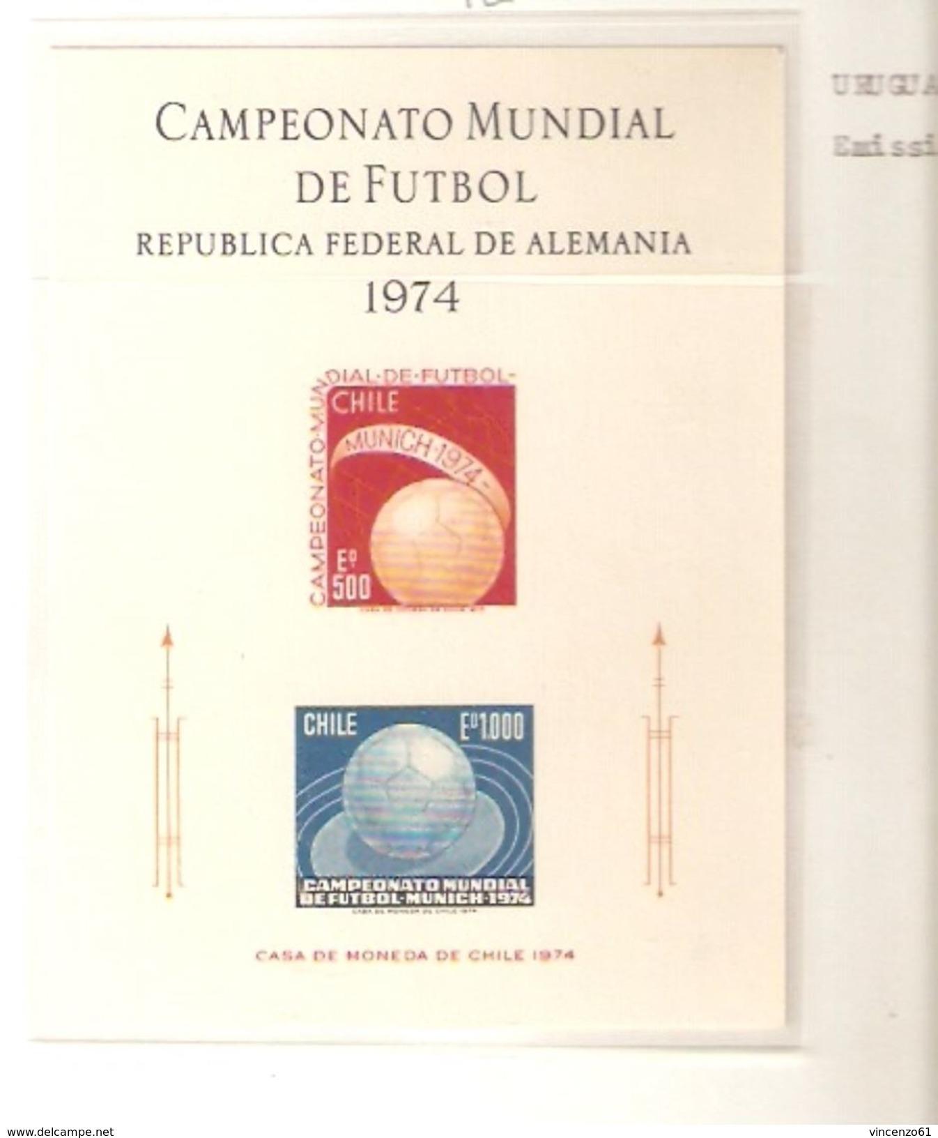 CILE  FIFA WORLD CUP 1974 GERMANY 1974 - Coppa Del Mondo