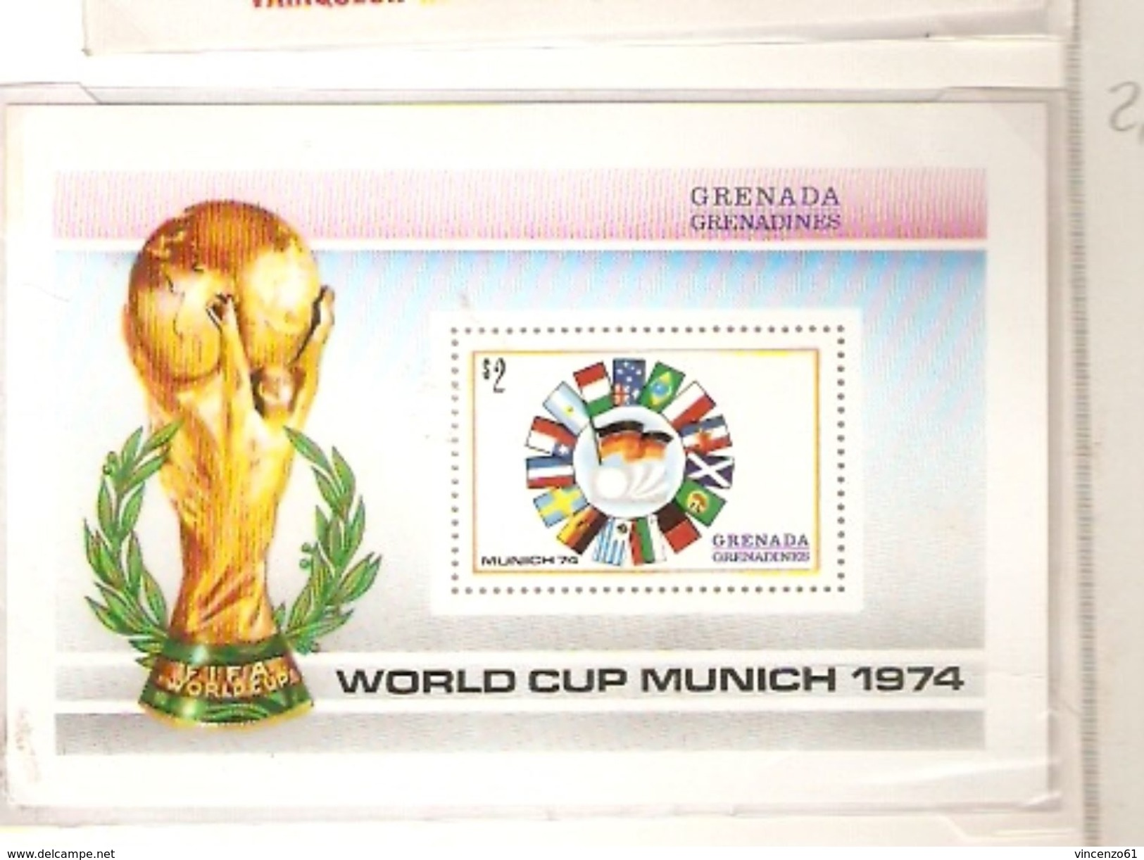 GRENADA GRENADINES FIFA WORLD CUP 1974 GERMANY 1974 - Coppa Del Mondo
