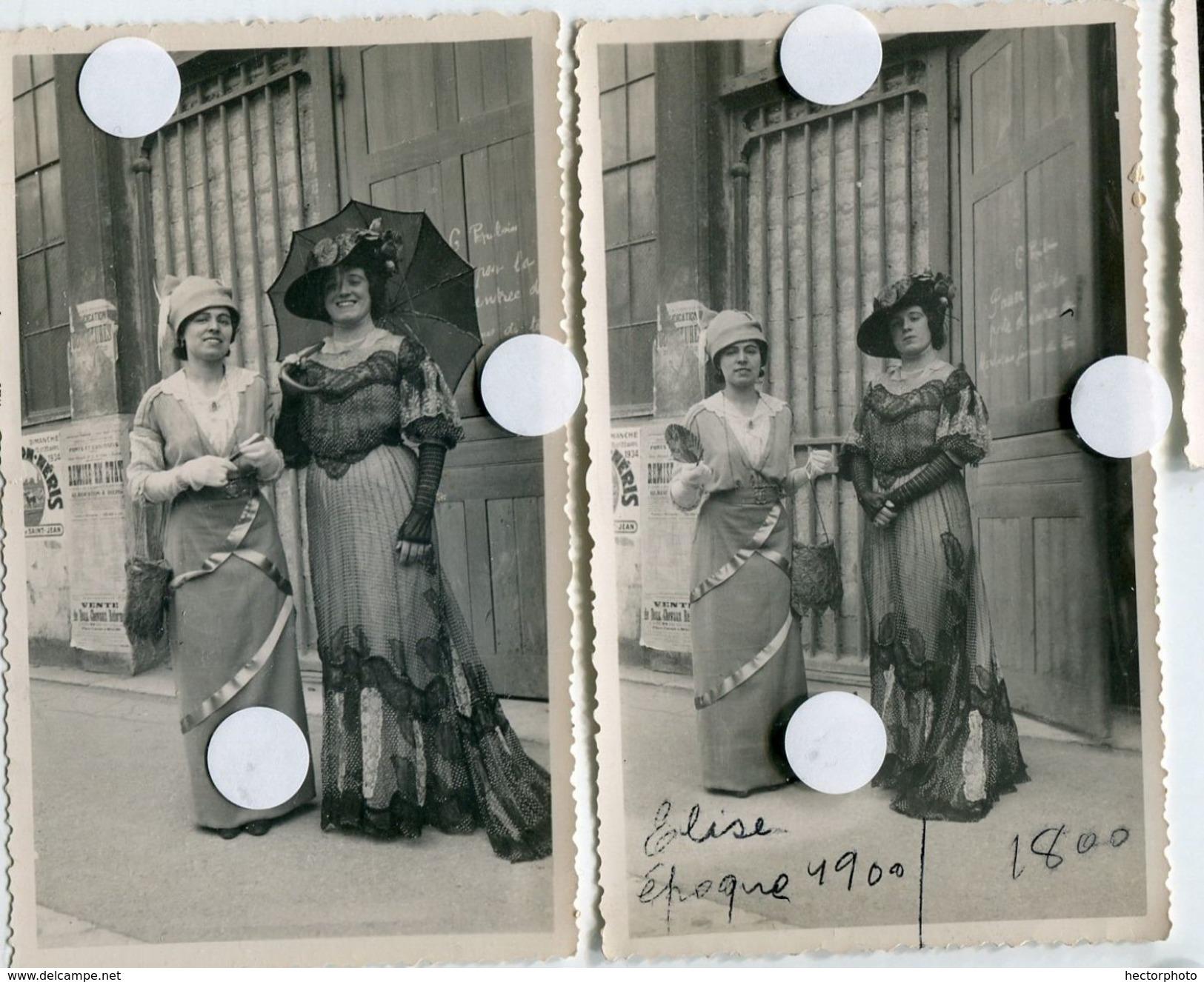 Halle De Chalon Sur Saone Scan Dos Déguisement Reconstitution D'époque 1900 1800 Vêtement Fashion Design Couture Mode - Lieux