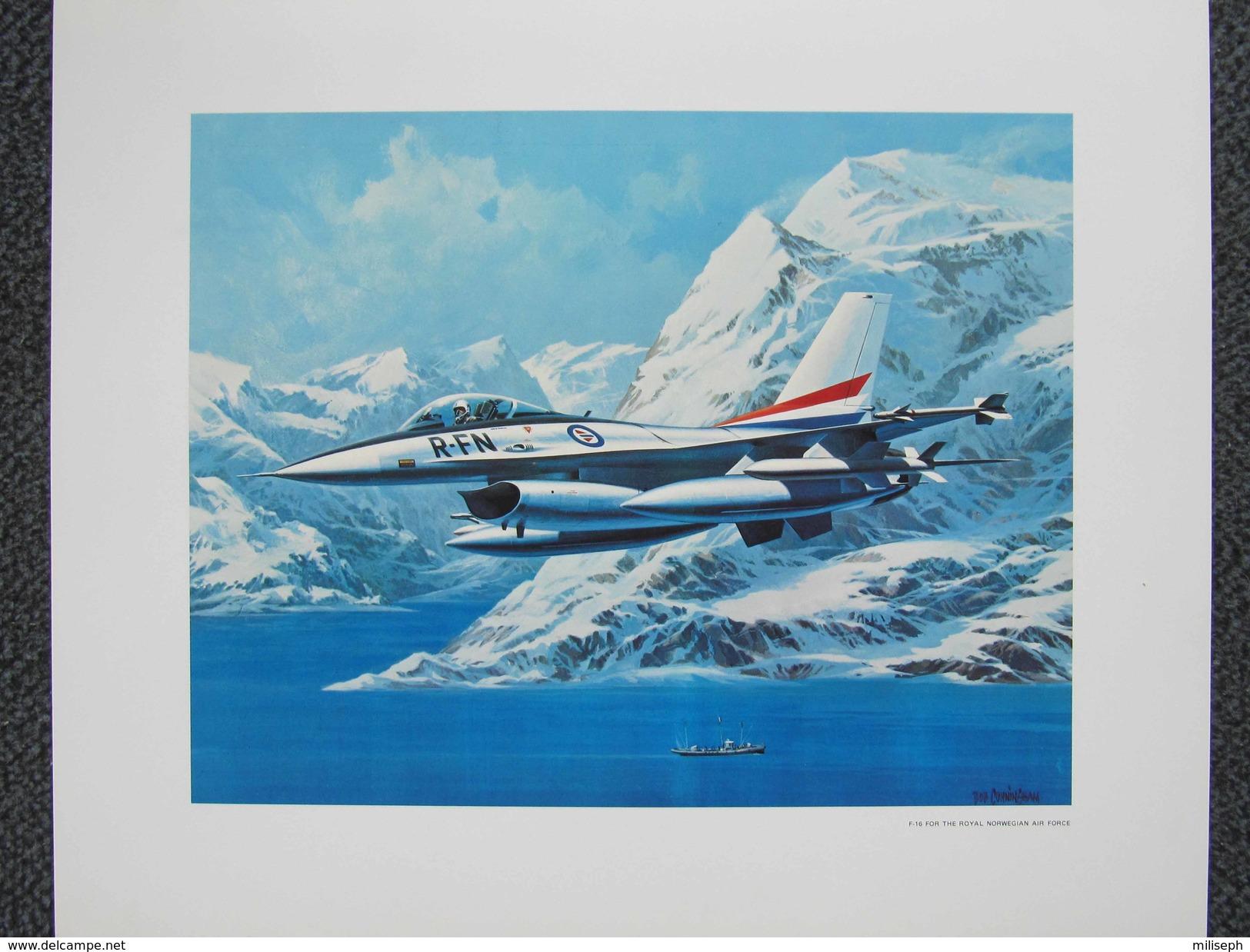 Photo AVION F-16 FOR THE ROYAL NORWEGIAN AIR FORCE - Par Bob CUNNINGHAM - ( Norvège ) -  (4392) - Aviation