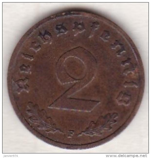 2 Reichspfennig 1939 F (STUTGART) .  Bronze - 2 Reichspfennig