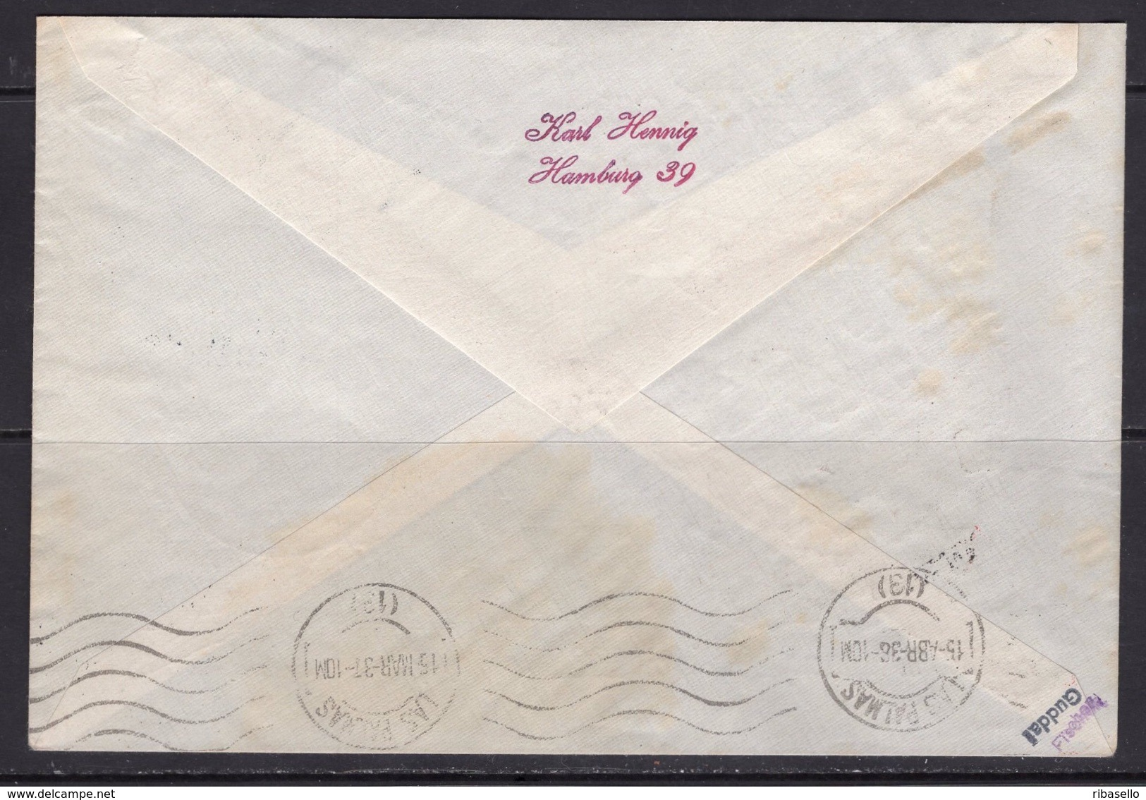 España 1938. Canarias. Carta De Wien A Las Palmas. Censura. - Marcas De Censura Nacional