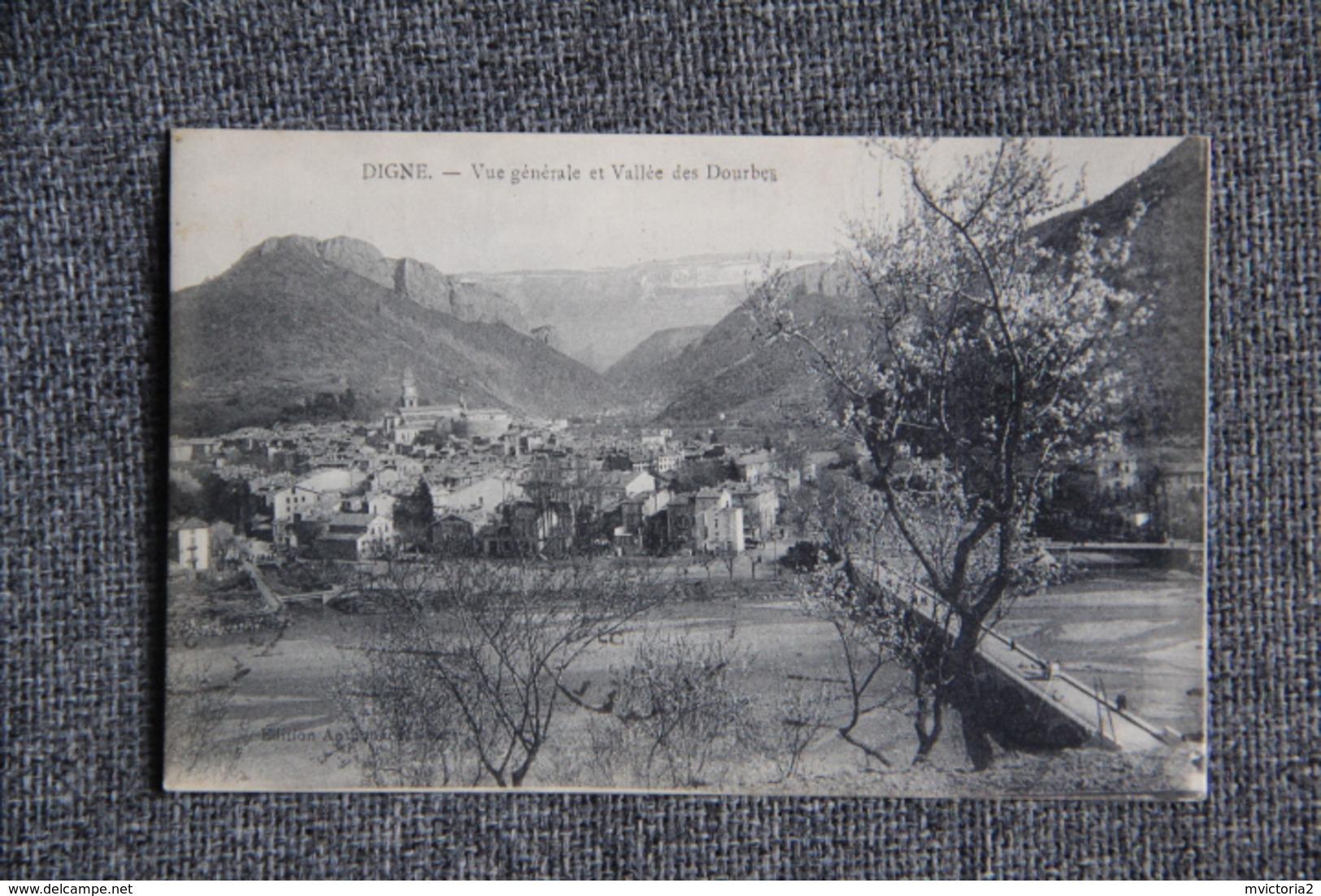 DIGNE - Vue Générale Et Vallée Des Dourbes - Digne