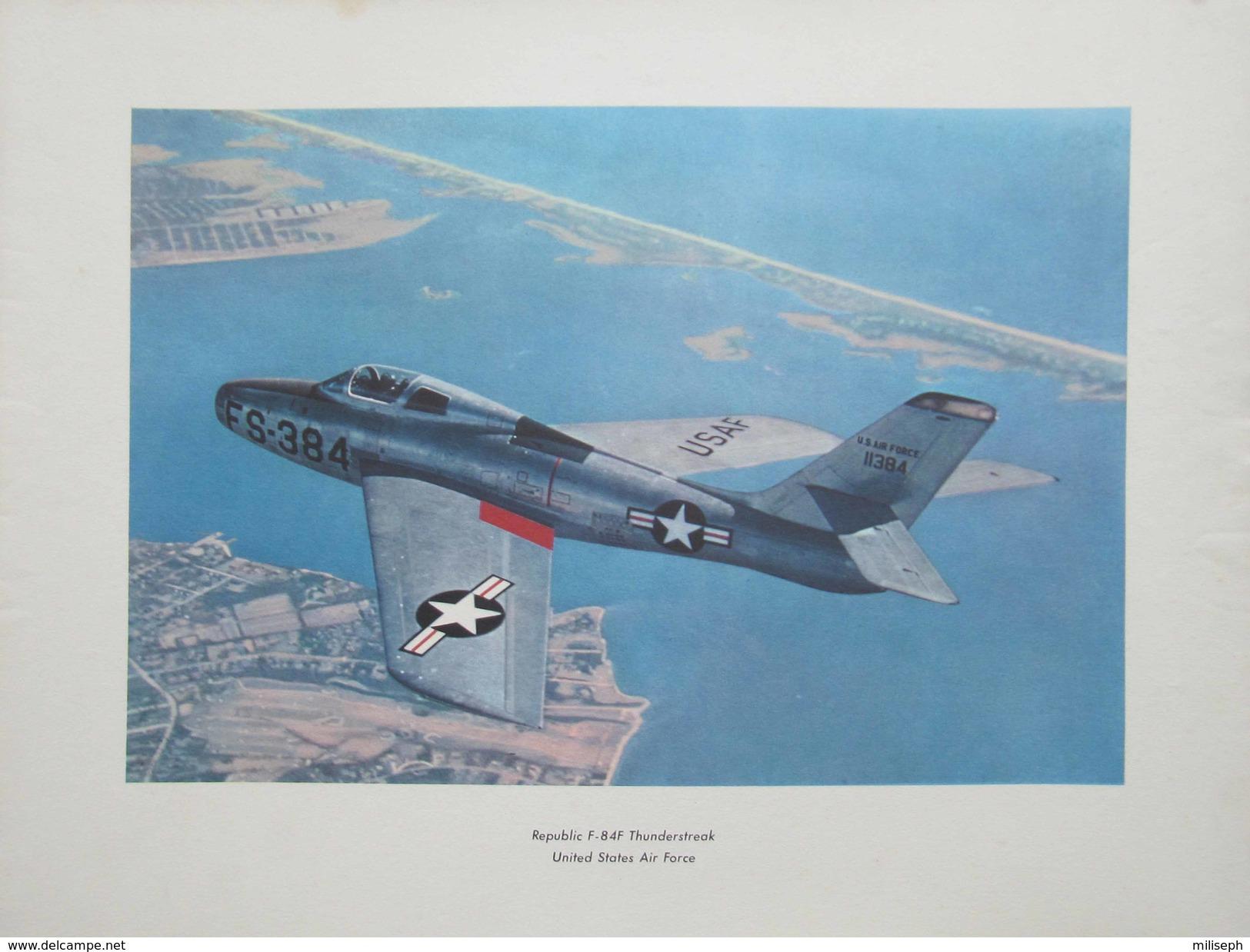 Photo AVION  REPUBLIC  F - 84F  THUNDERSTREAK - UNITED STADES AIR FORCE  (4398) - Aviation
