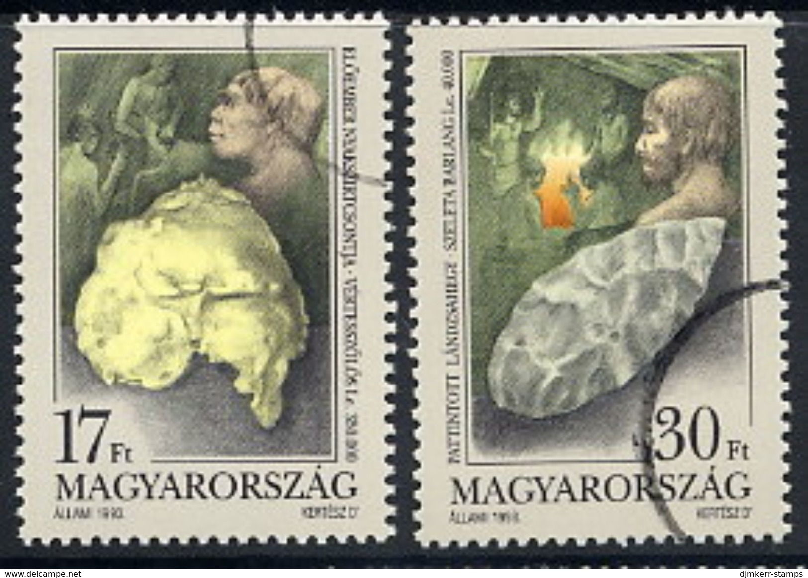 HUNGARY 1993 Archaeological Finds With Specimen / Muster Cancellation MNH / **.  Michel 4266-67 - Hungary