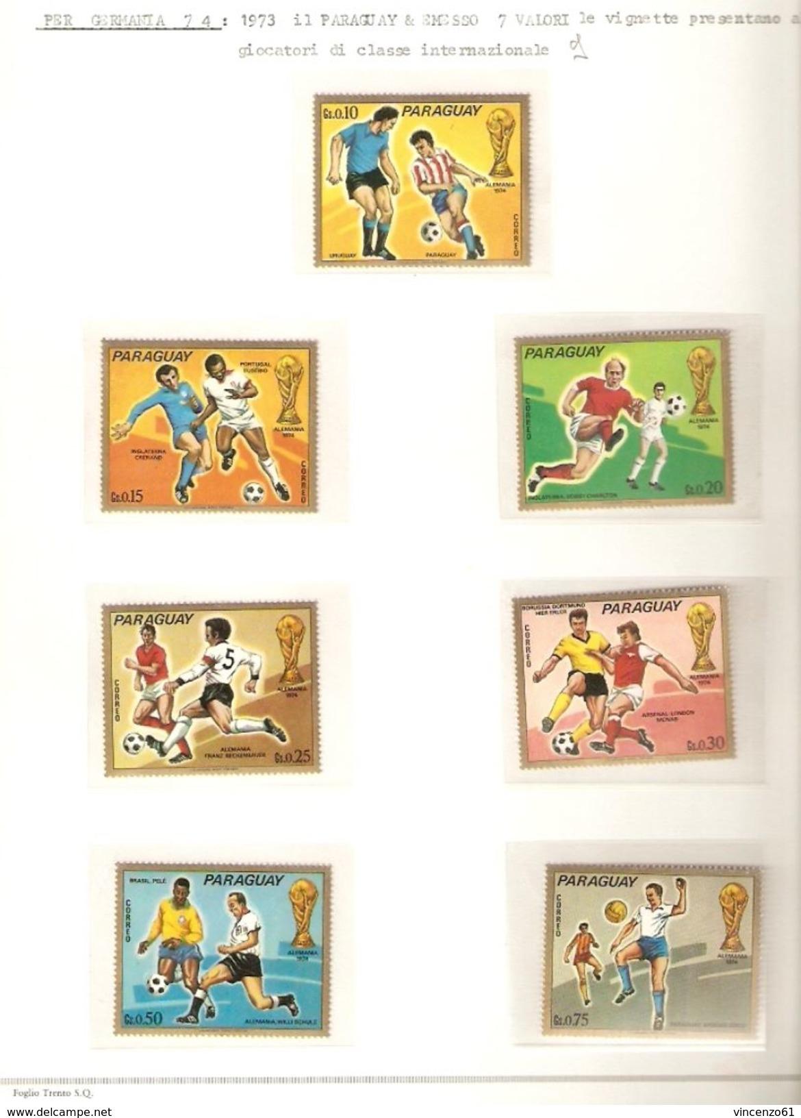 PARAGUAY  FIFA WORLD CUP 1974 GERMANY 1974 - Coppa Del Mondo
