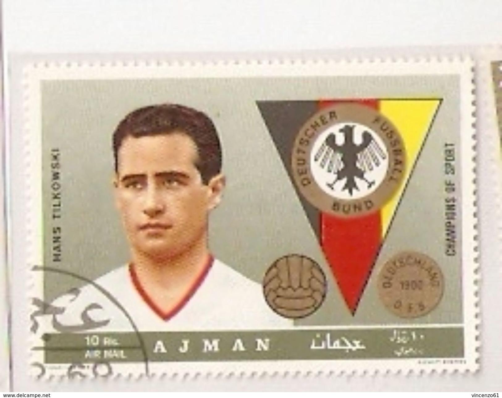 AJMAN GERMANY TEAM HANS TILKOWSKI  FIFA WORLD CUP 1974 GERMANY 1974 - Coppa Del Mondo