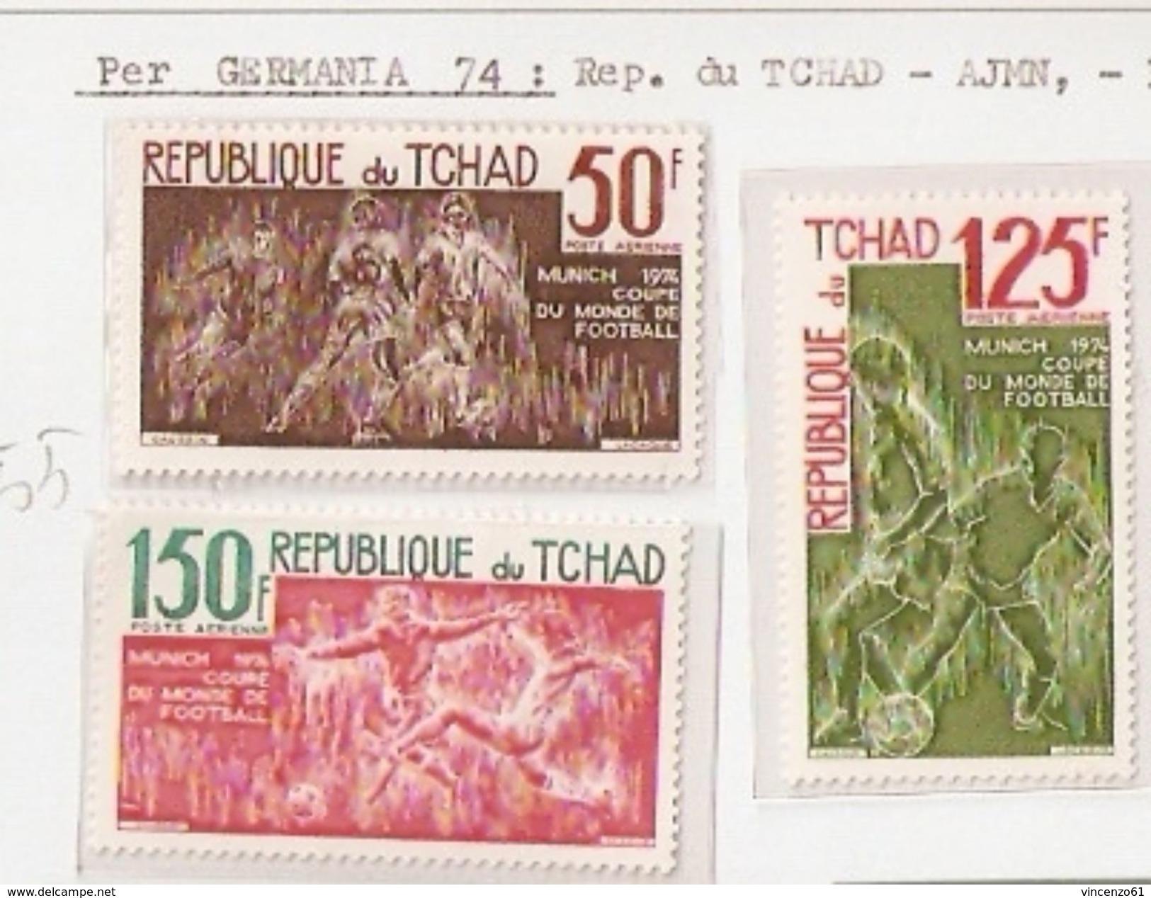 REPUBLIQUE DU TCHAD FIFA WORLD CUP 1974 GERMANY 1974 - Coppa Del Mondo