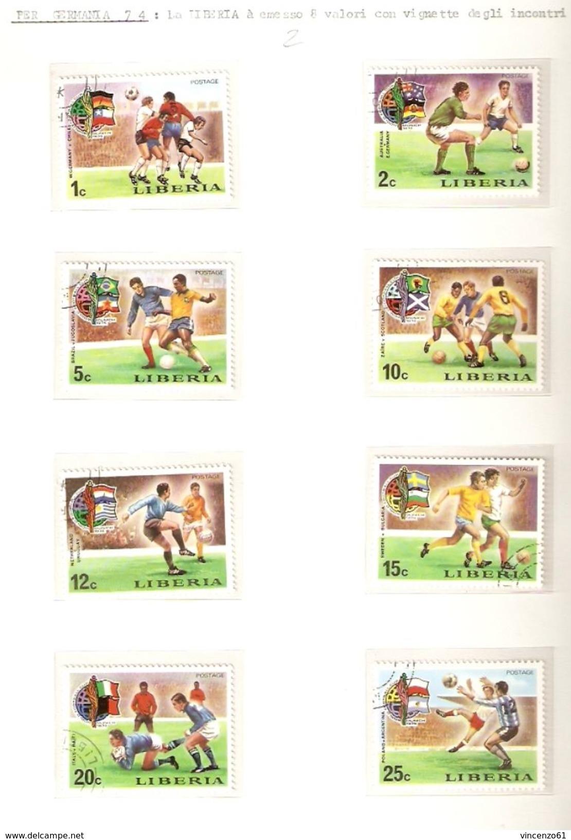 LIBERIA FIFA WORLD CUP 1974 GERMANY 1974 - Coppa Del Mondo