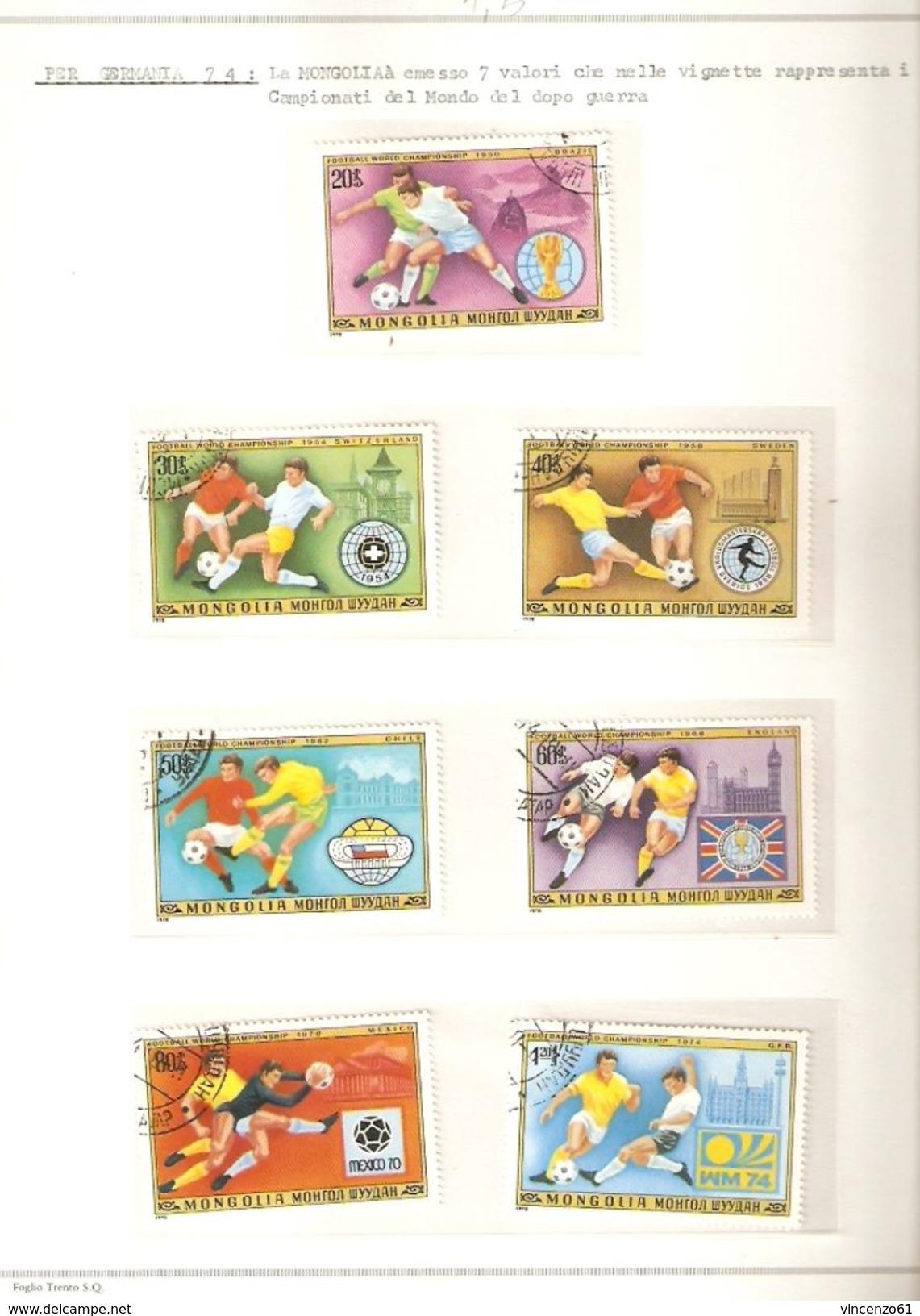 MONGOLIA FIFA WORLD CUP 1974 GERMANY 1974 - Coppa Del Mondo