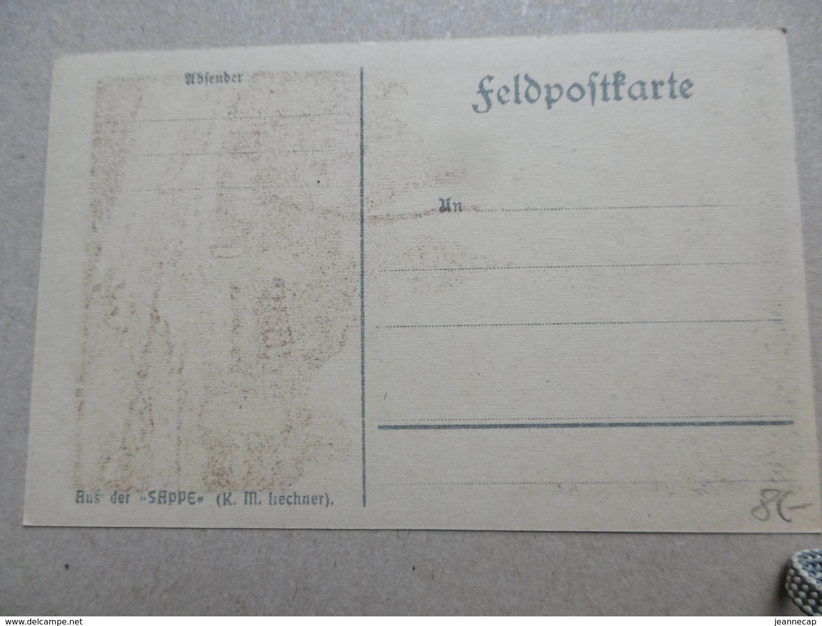 "Duitse Kaart ""LEDEGEM"" Niet Gelopen, Aus Der ""Sappe"" L.M. Lechner. - Ledegem"