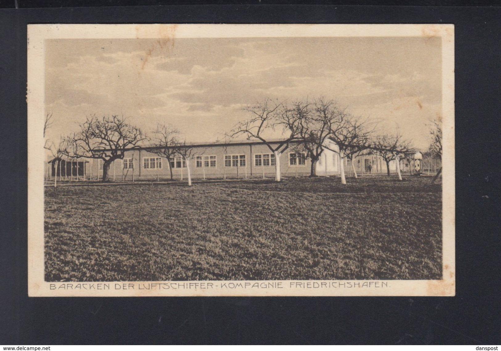 Dt. Reich AK Friedrichshafen Zeppelin Baracken Der Luftschiffer Kompagnie - Luchtschepen