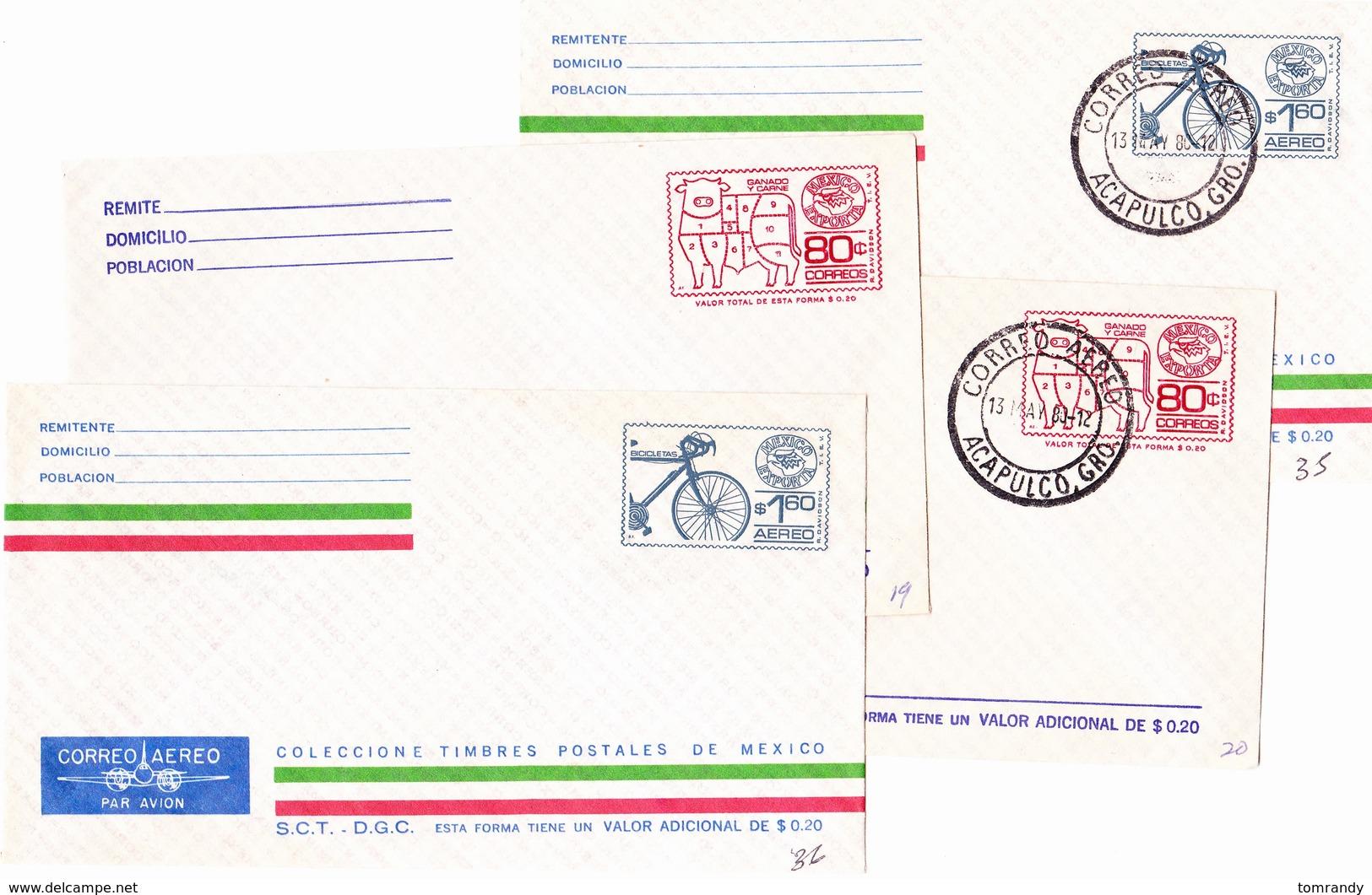 Acapulco Mexiko 1980, 4 Umschläge, Postfr. & Gestempelt - Mexiko